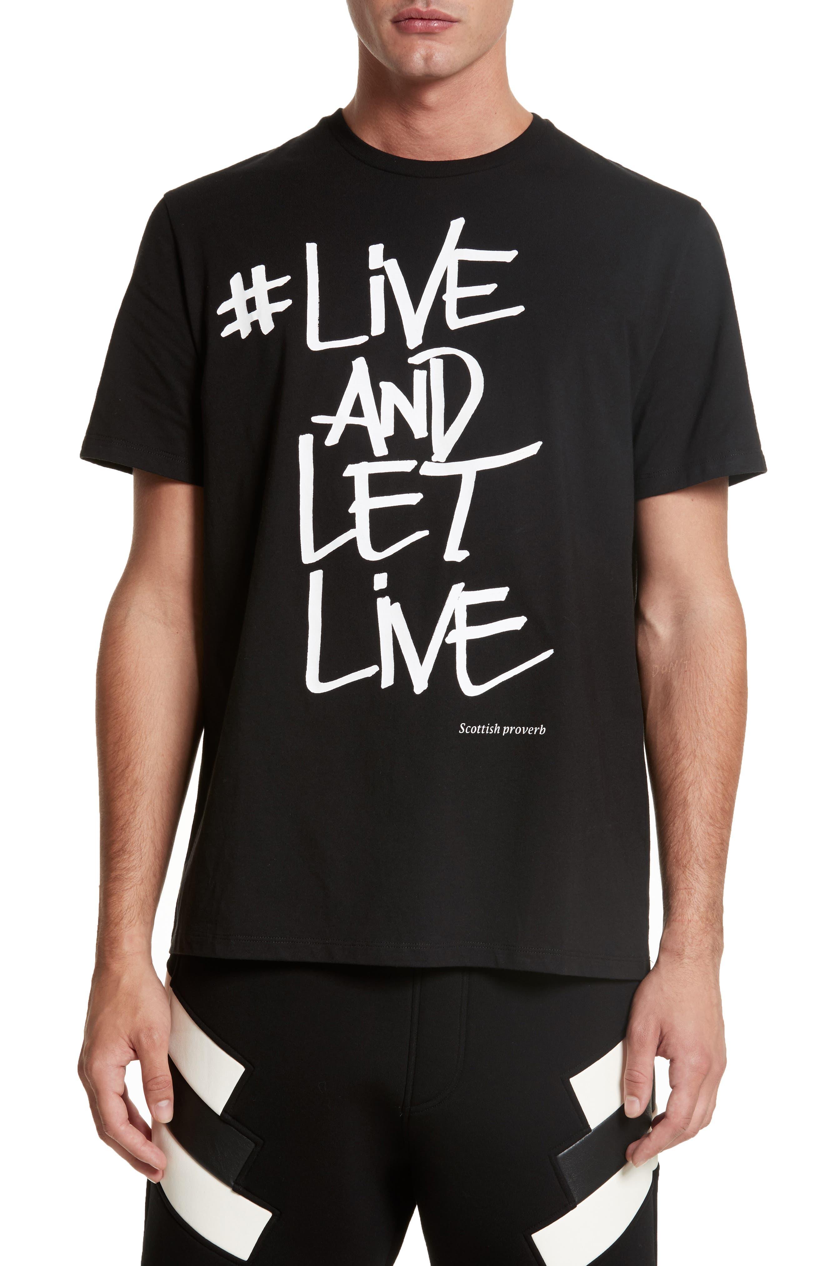 Live & Let Live Graphic T-Shirt,                             Main thumbnail 1, color,                             001