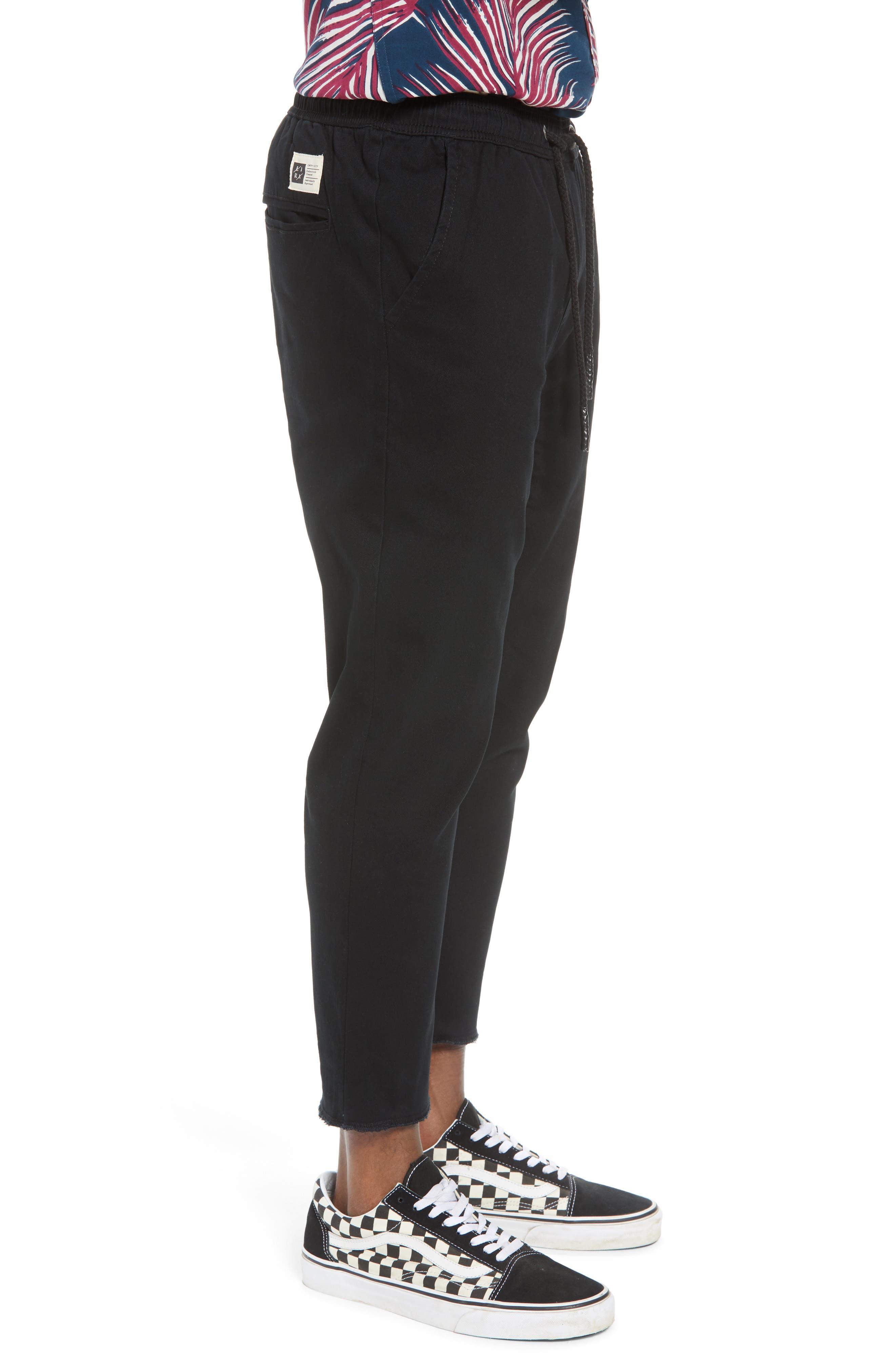 Vacation Slim Fit Crop Pants,                             Alternate thumbnail 3, color,                             BLACK