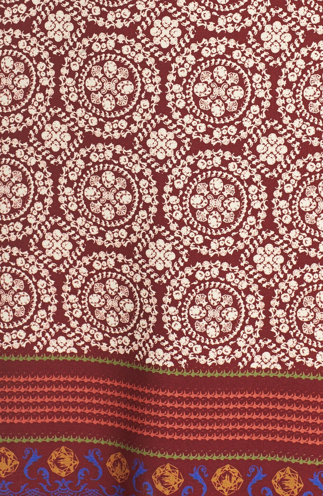 'Nora' Print Woven Shift Dress,                             Alternate thumbnail 5, color,                             939