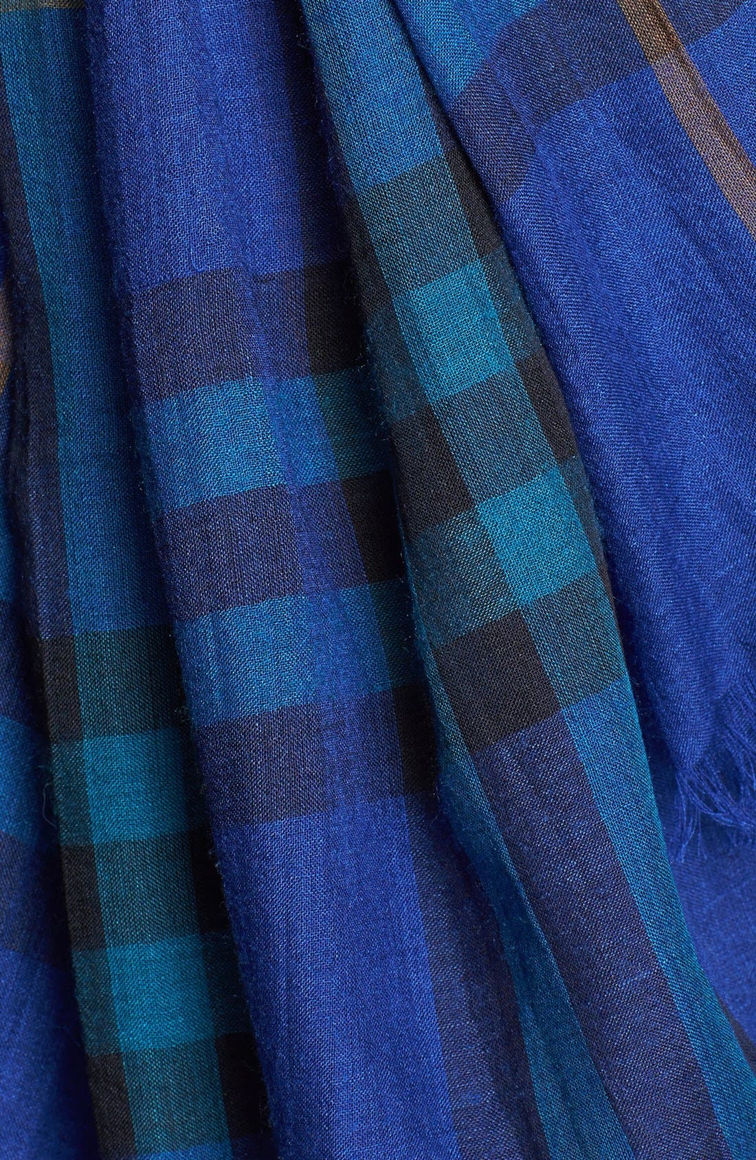Giant Check Print Wool & Silk Scarf,                             Alternate thumbnail 89, color,