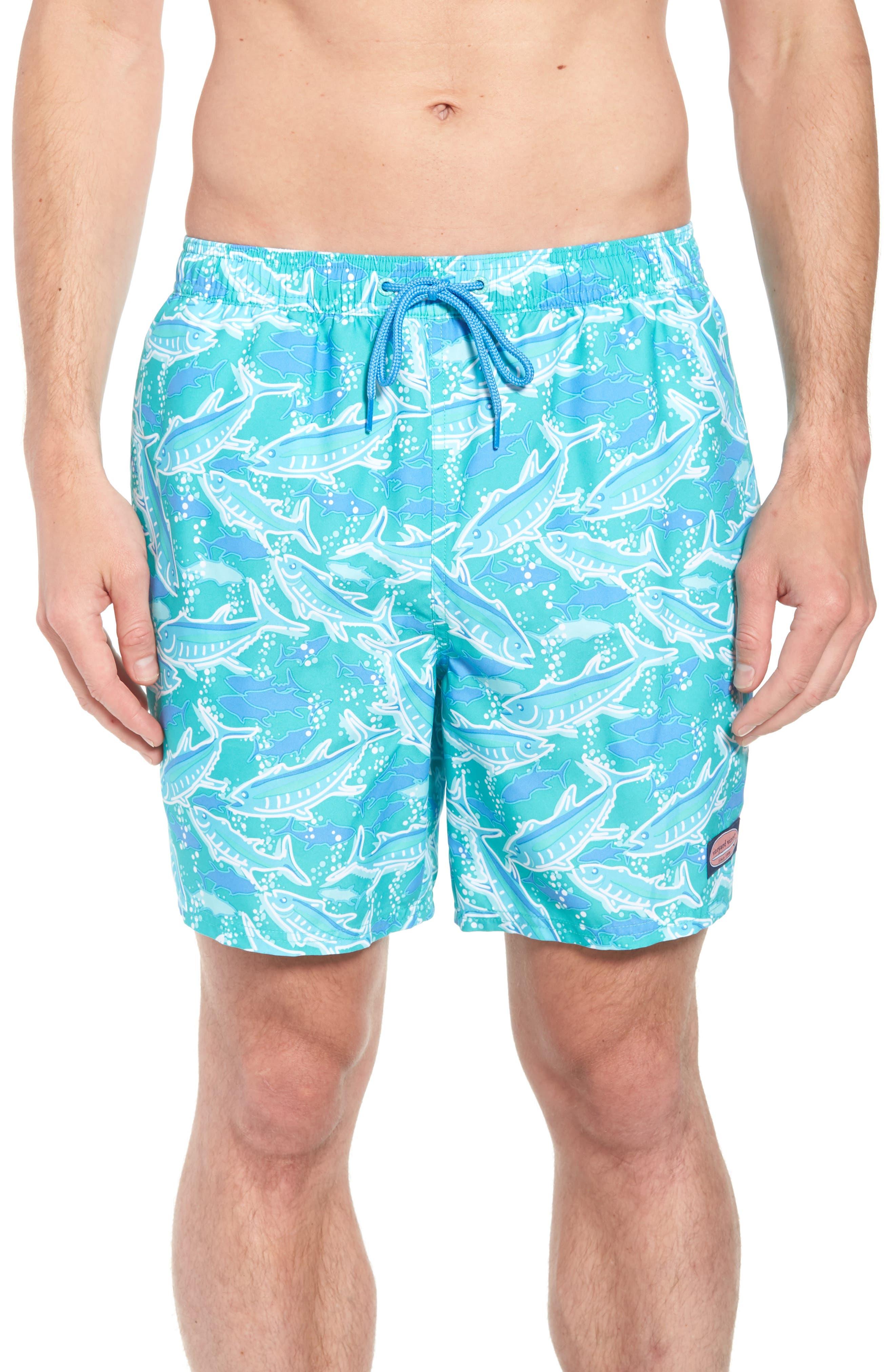 VINEYARD VINES Chappy School of Tuna Swim Trunks, Main, color, 356