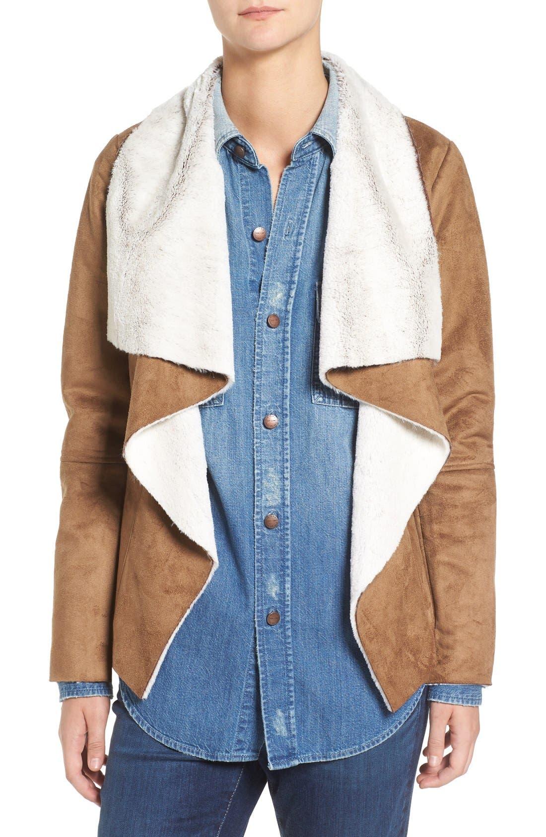 Bourne Faux Shearling Jacket,                             Main thumbnail 1, color,                             257