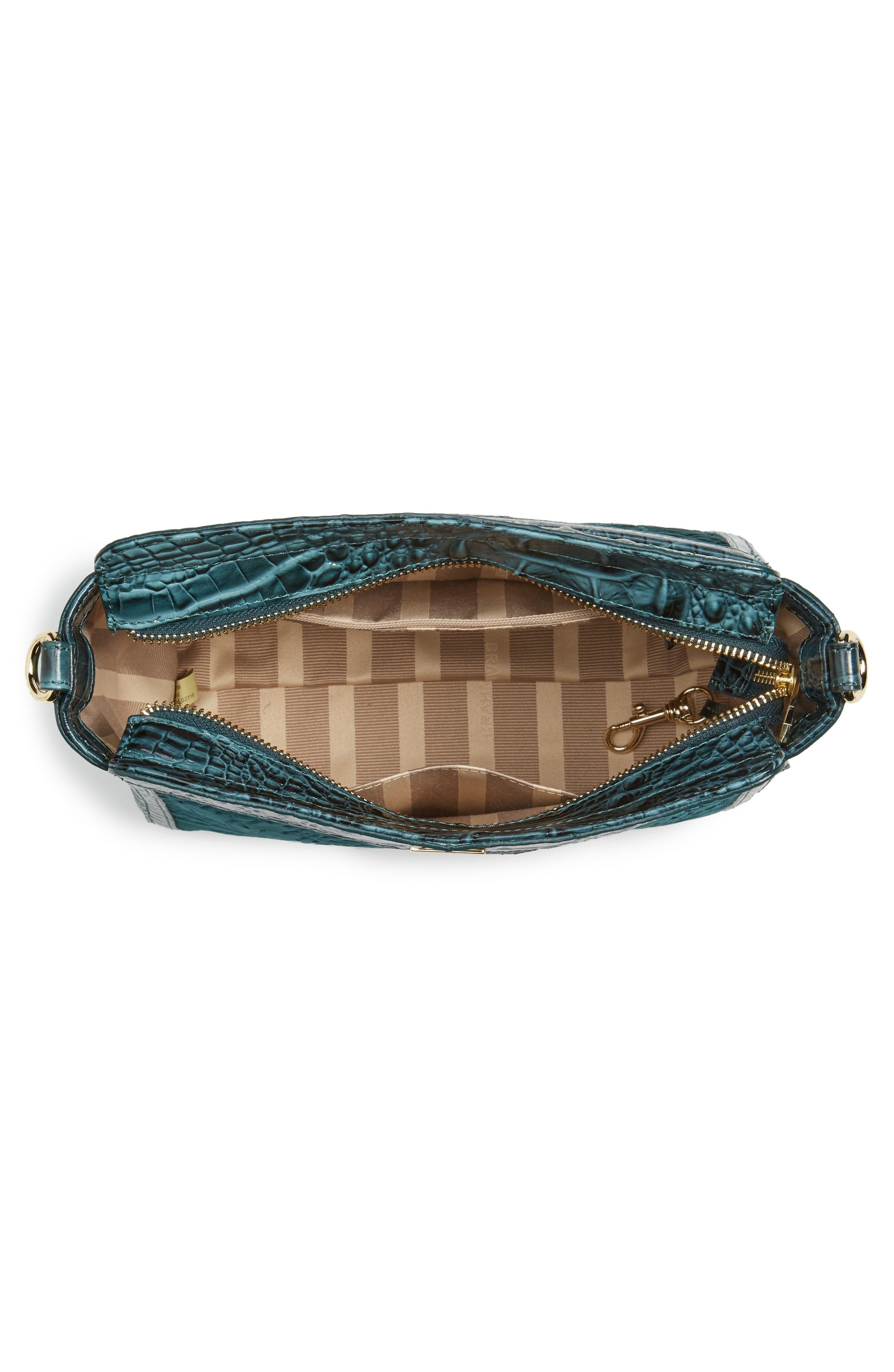 Ivy Cellini Carrie Embossed Velvet Crossbody Bag,                             Alternate thumbnail 4, color,                             353