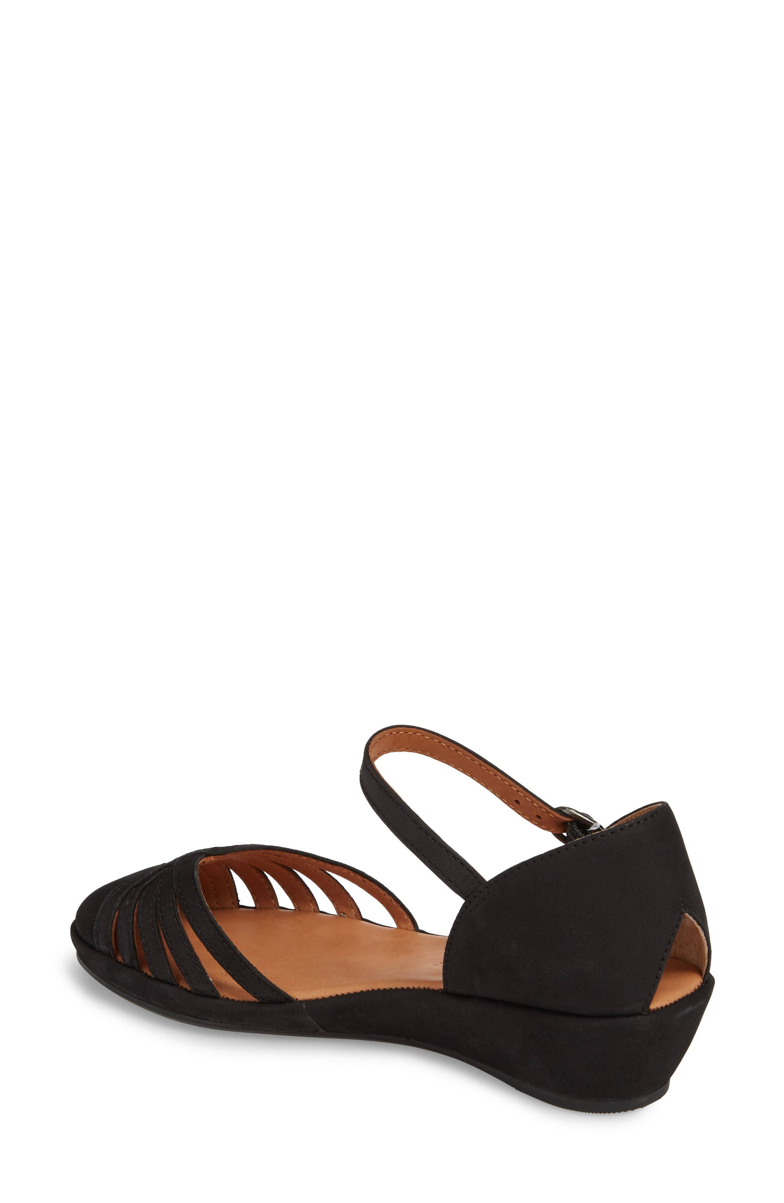 by Kenneth Cole Naira Wedge,                             Alternate thumbnail 2, color,                             BLACK NUBUCK