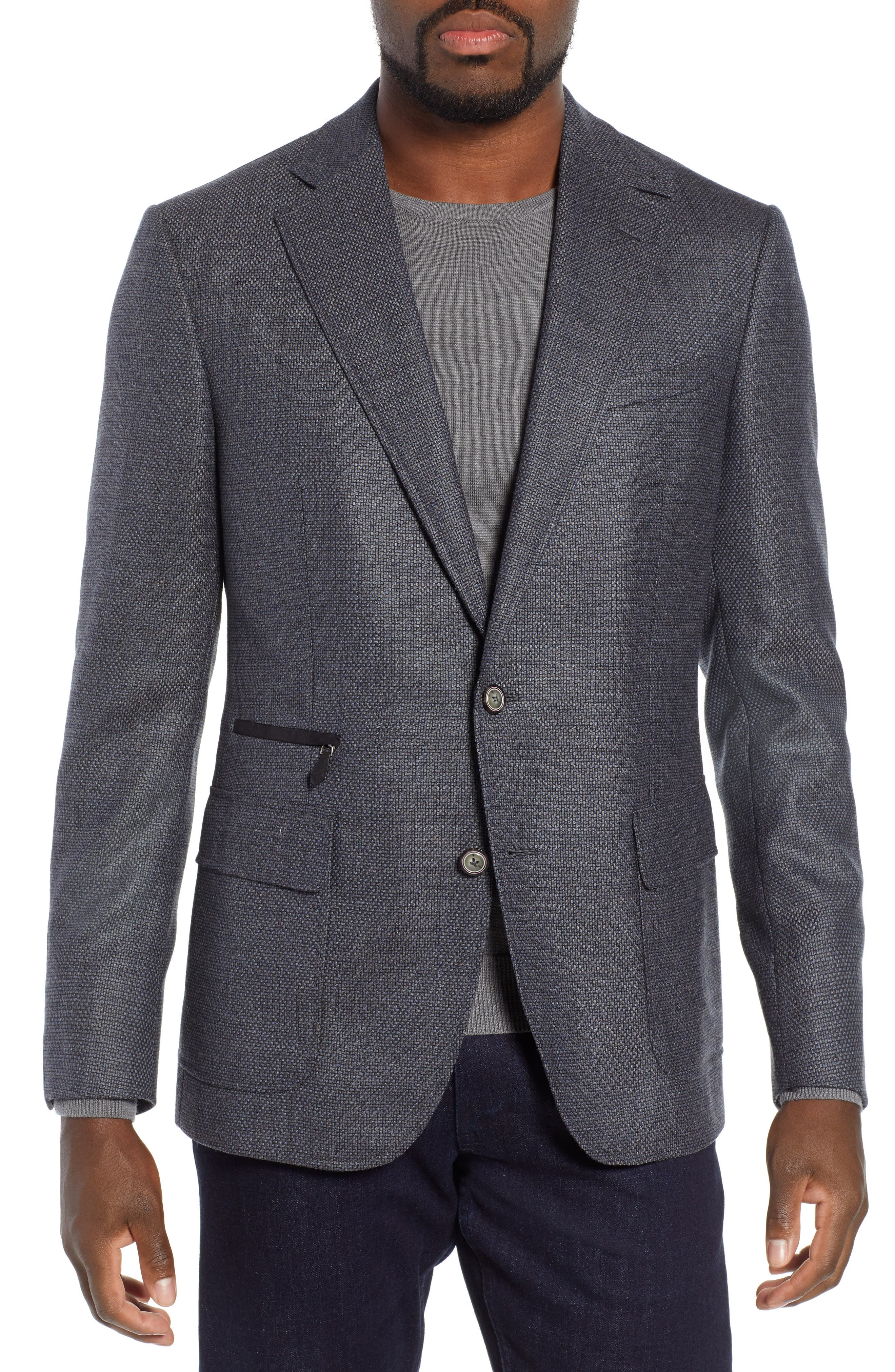 Downhill Sport Coat with Removable Bib,                             Alternate thumbnail 4, color,                             NAVY
