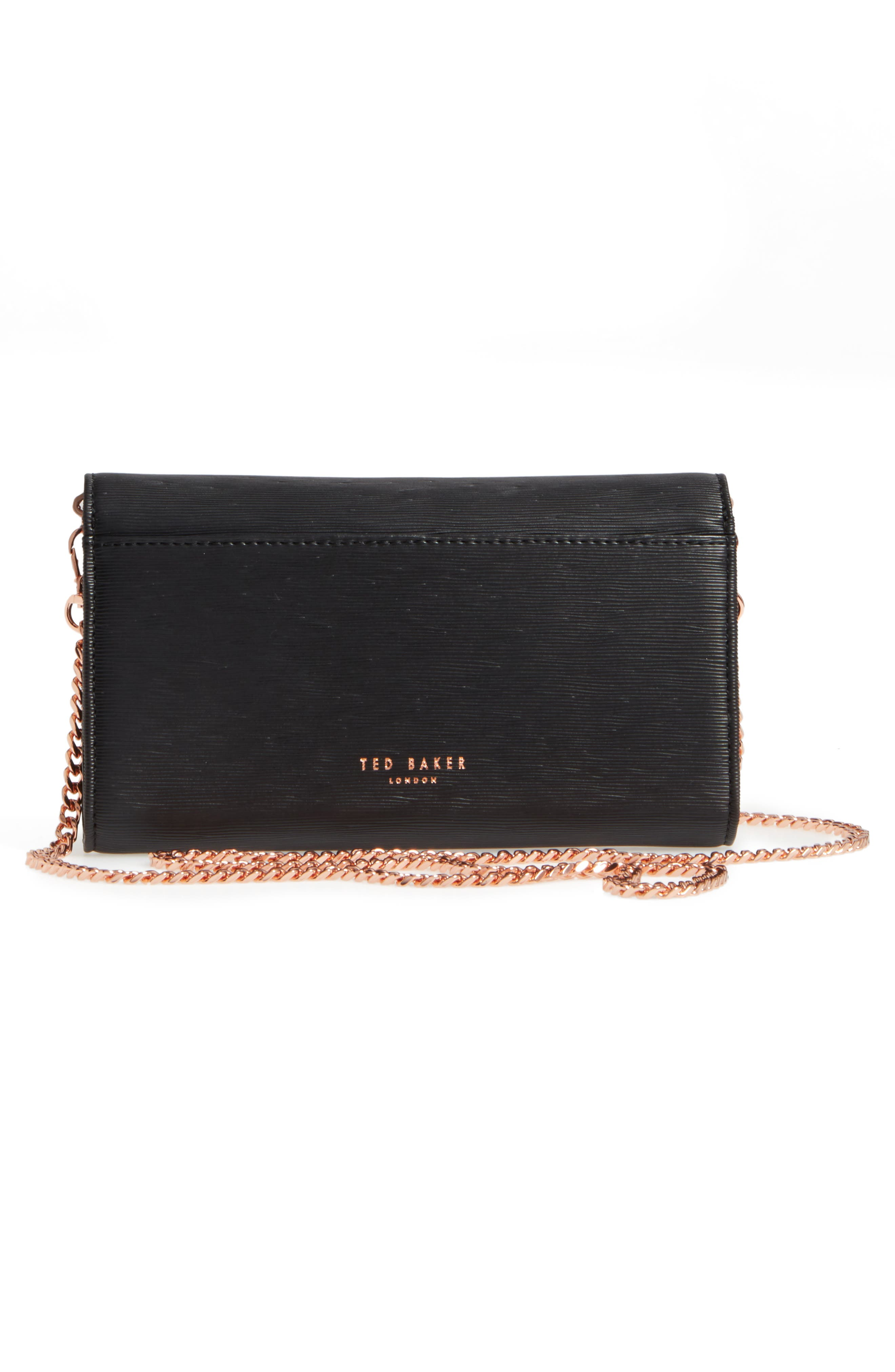 Melisia Bow Matinée Wallet on a Chain,                             Alternate thumbnail 7, color,