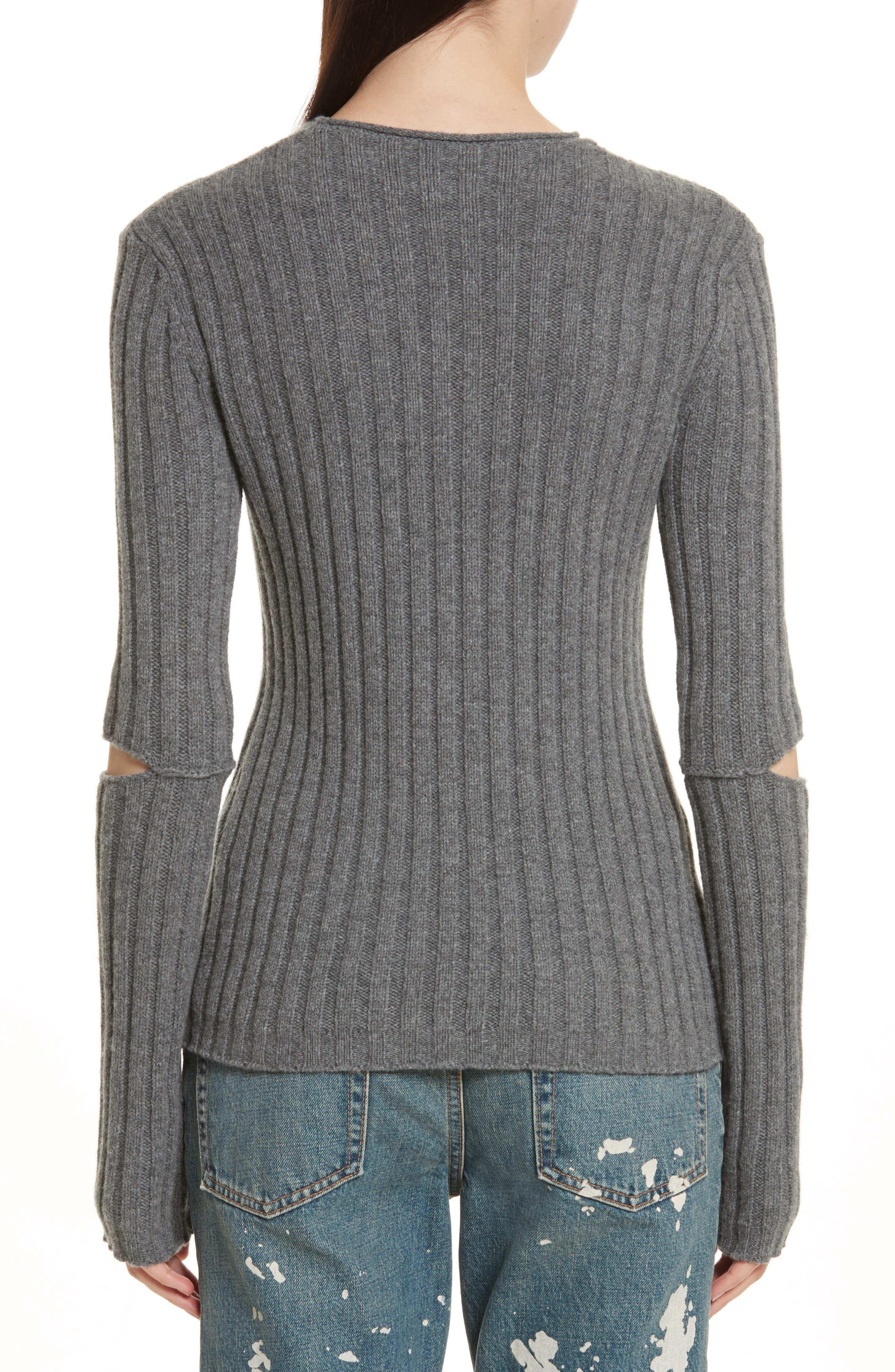 Re-Edition Elbow Cutout Lambswool Sweater,                             Alternate thumbnail 2, color,                             030