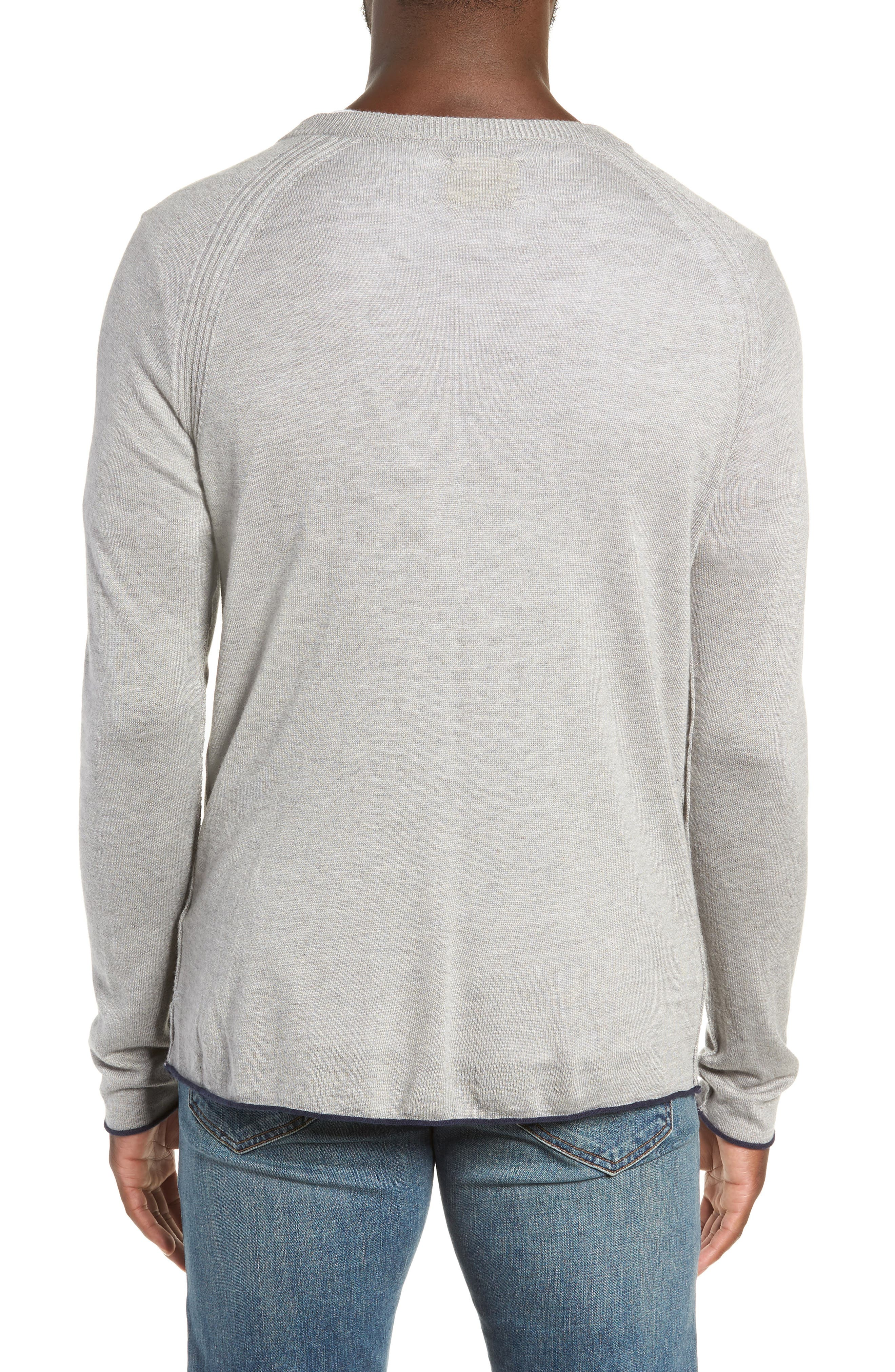 Salinas Cash V-Neck Sweater,                             Alternate thumbnail 2, color,                             GREY HEATHER