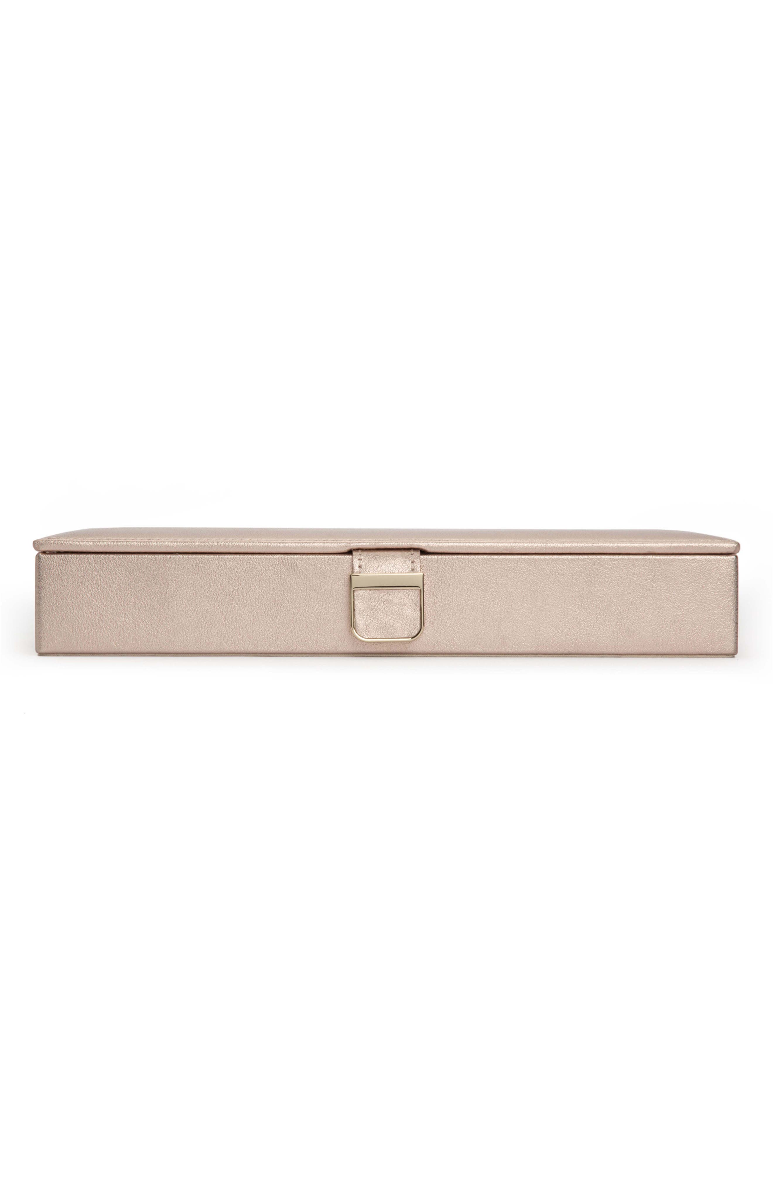 Palermo Safe Deposit Jewelry Box,                             Main thumbnail 1, color,                             ROSE GOLD
