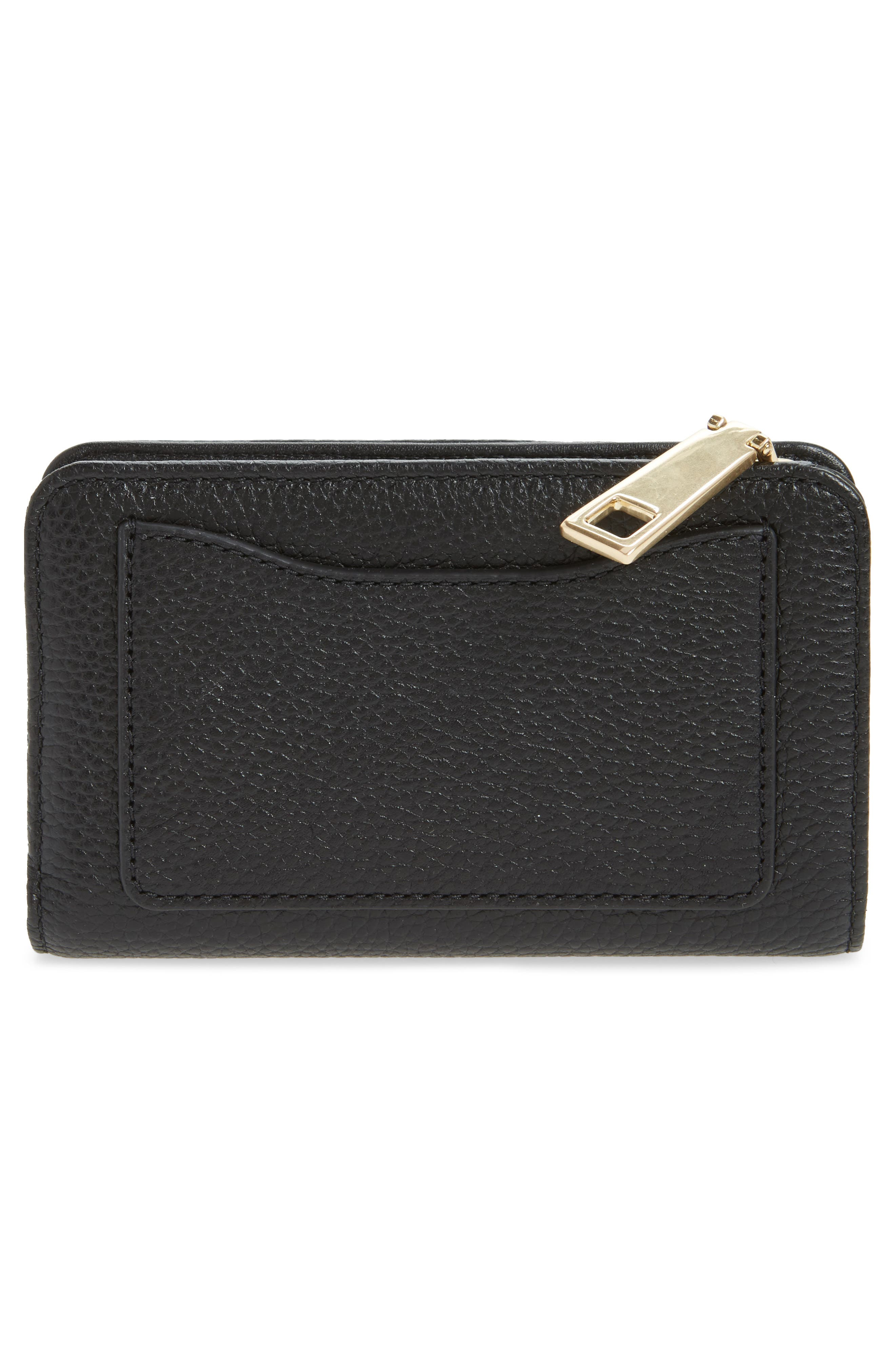 Gotham Compact Leather Wallet,                             Alternate thumbnail 3, color,                             002