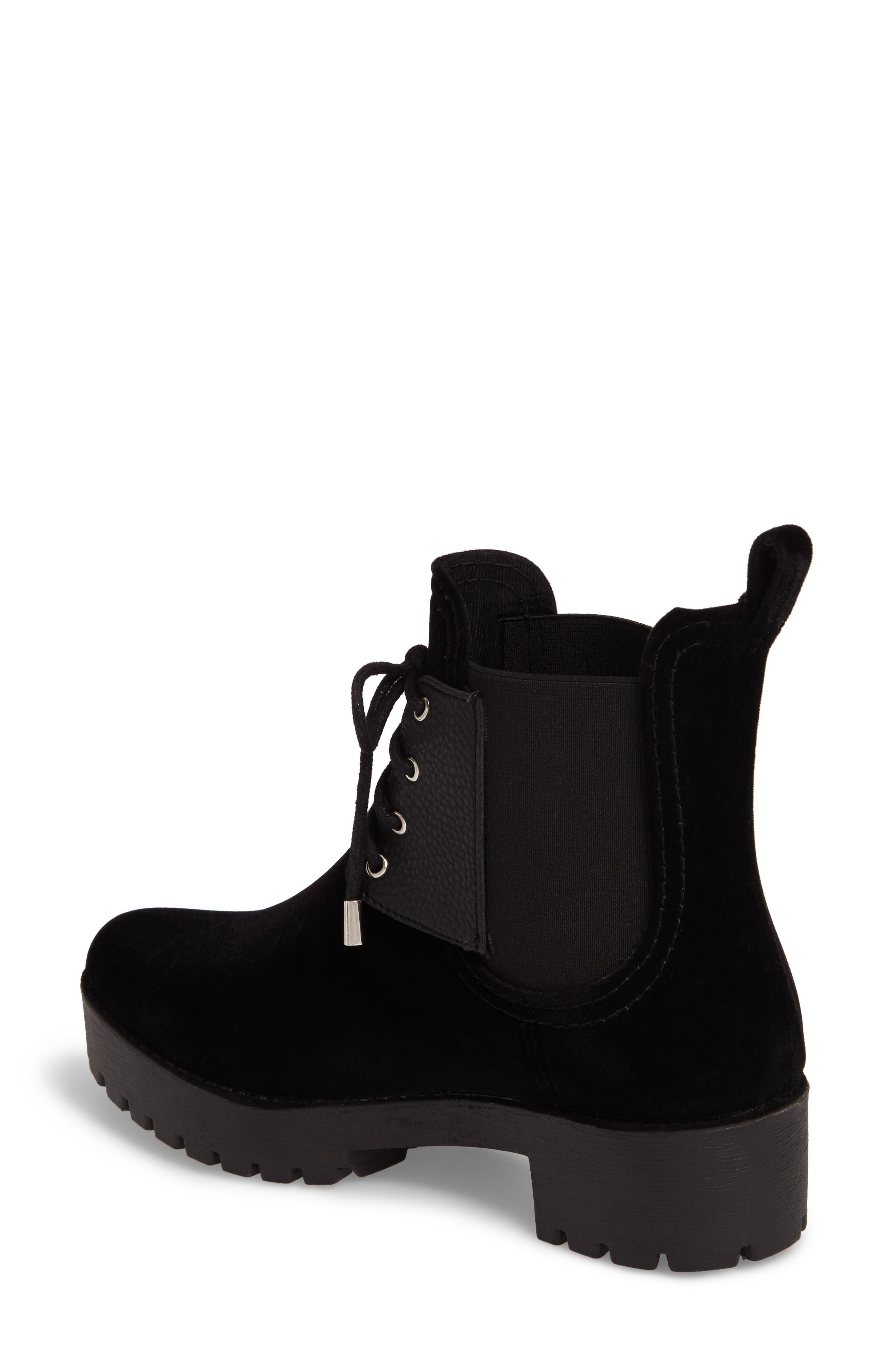Leeds Lace-Up Waterproof Boot,                             Alternate thumbnail 2, color,                             BLACK
