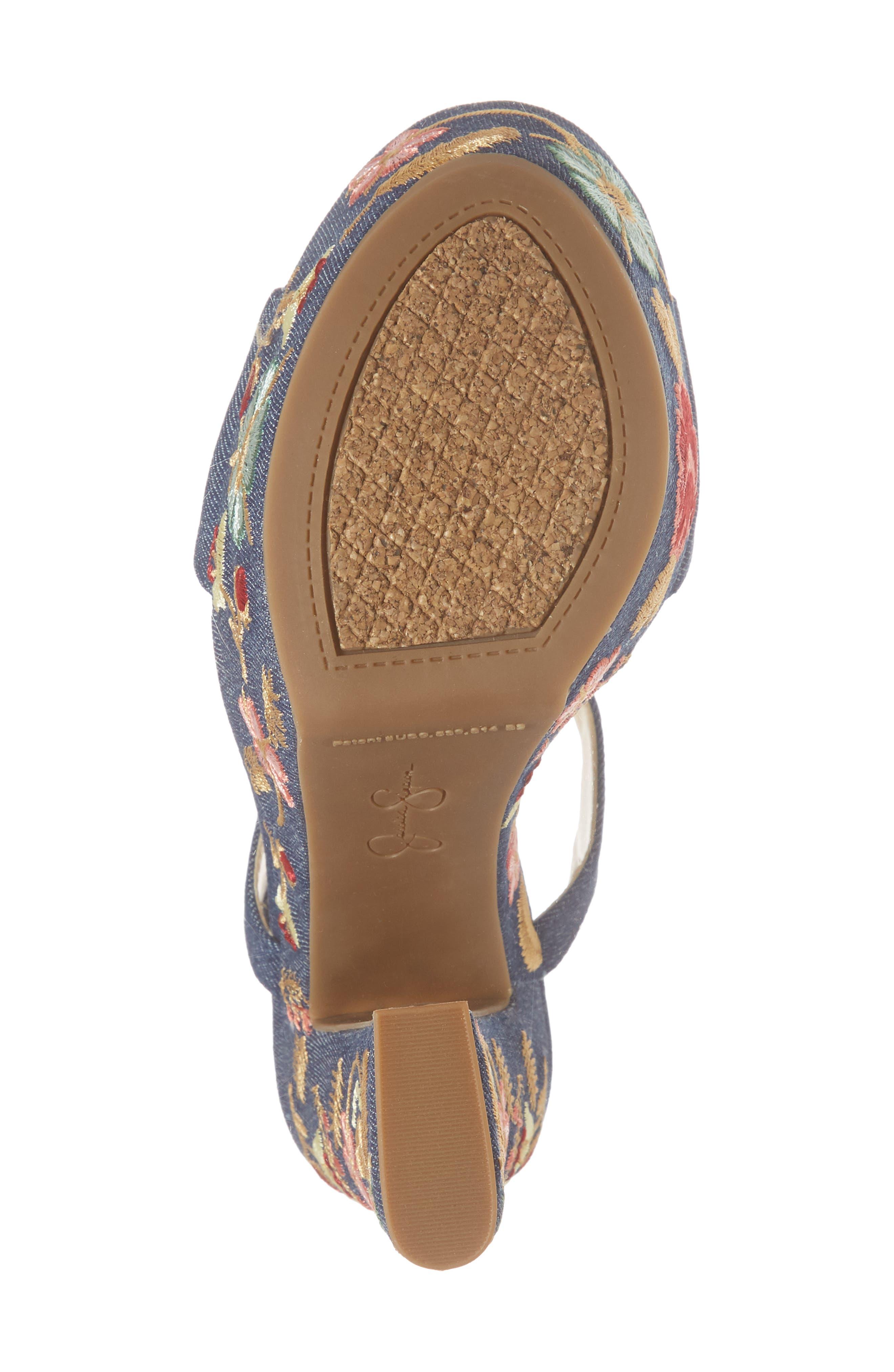 JESSICA SIMPSON,                             Divella Embroidered Platform Sandal,                             Alternate thumbnail 6, color,                             410
