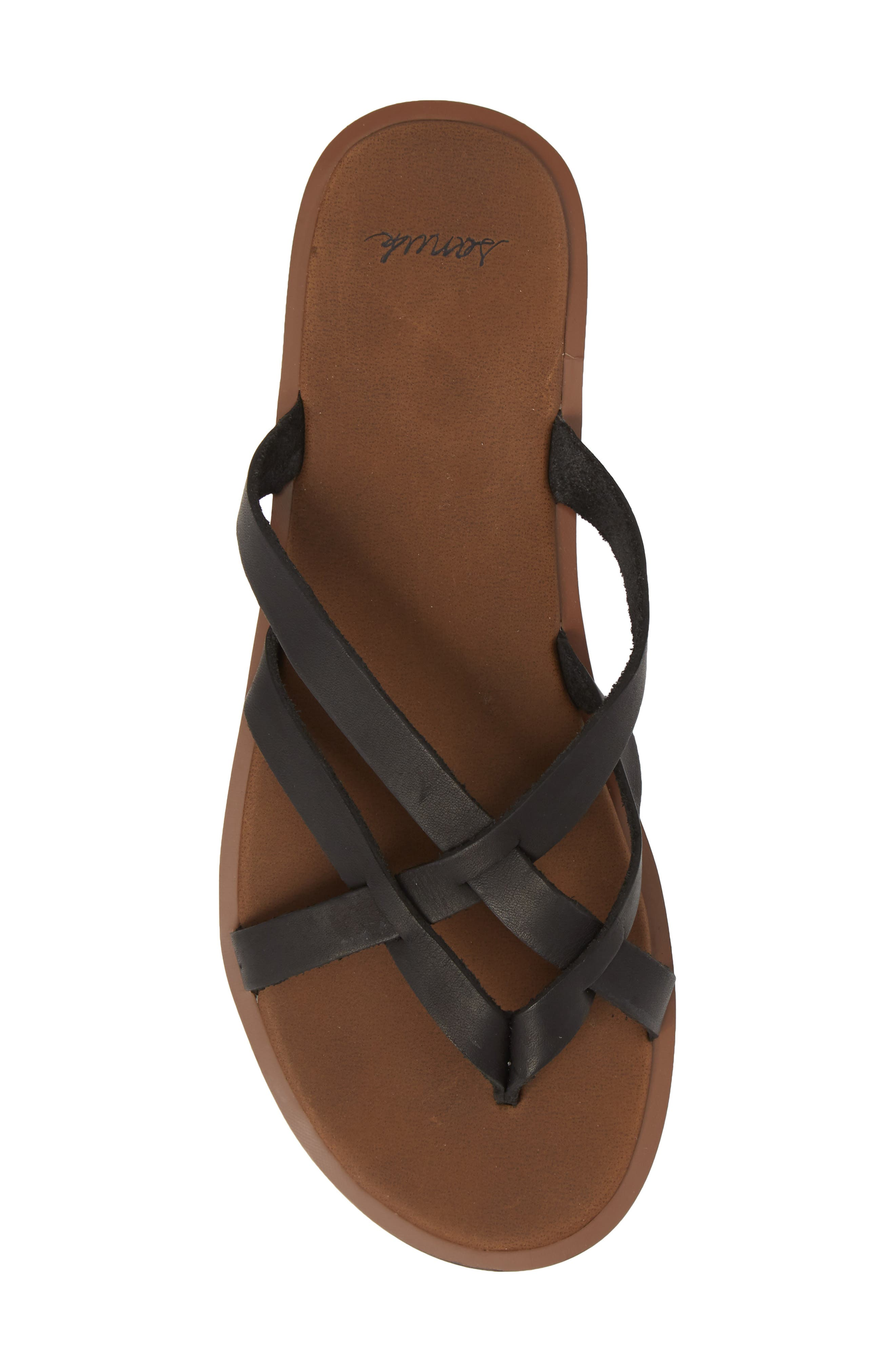 Yoga Strappy Thong Sandal,                             Alternate thumbnail 5, color,                             001