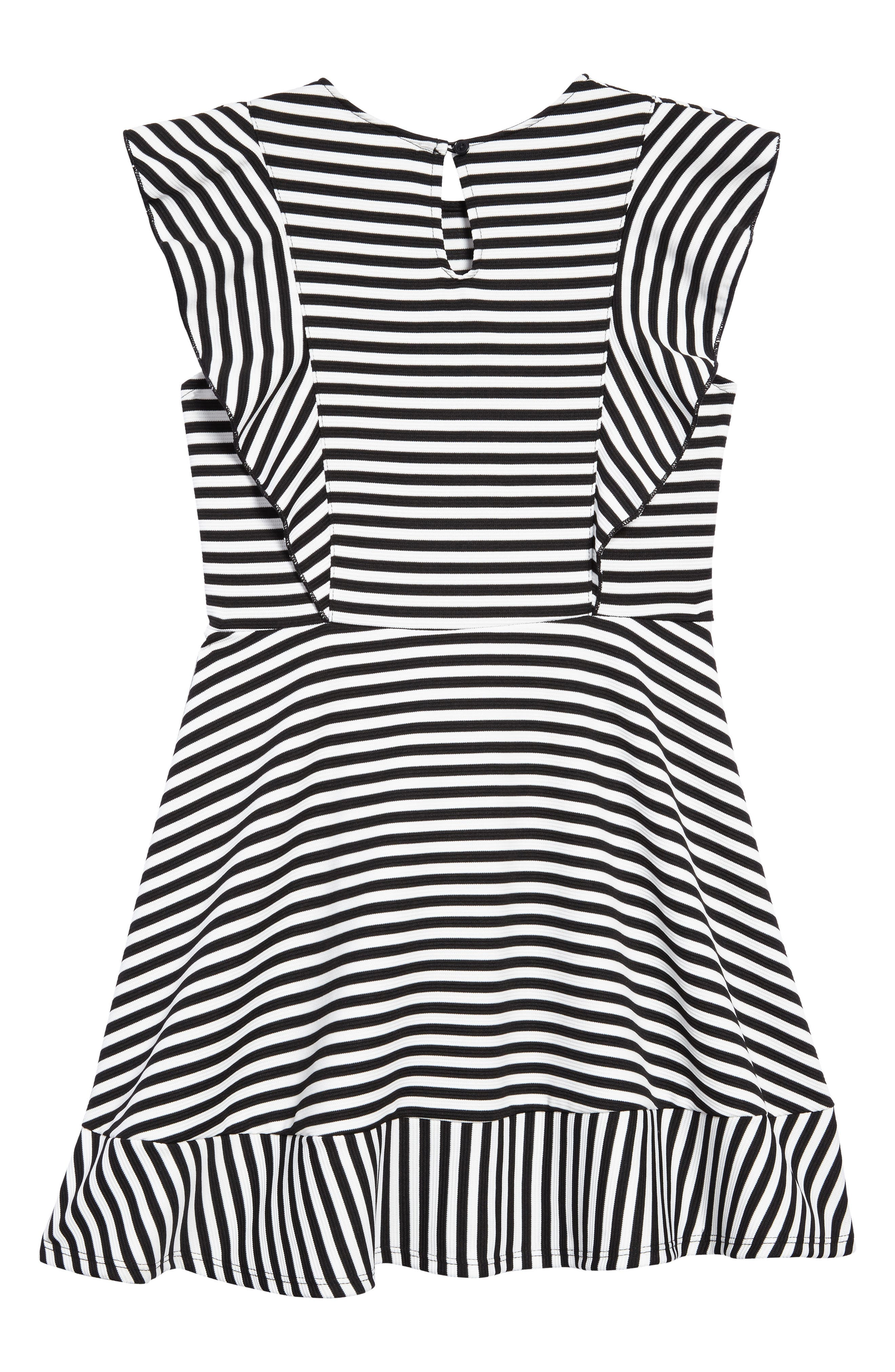 Stripe Skater Dress,                             Alternate thumbnail 2, color,                             001