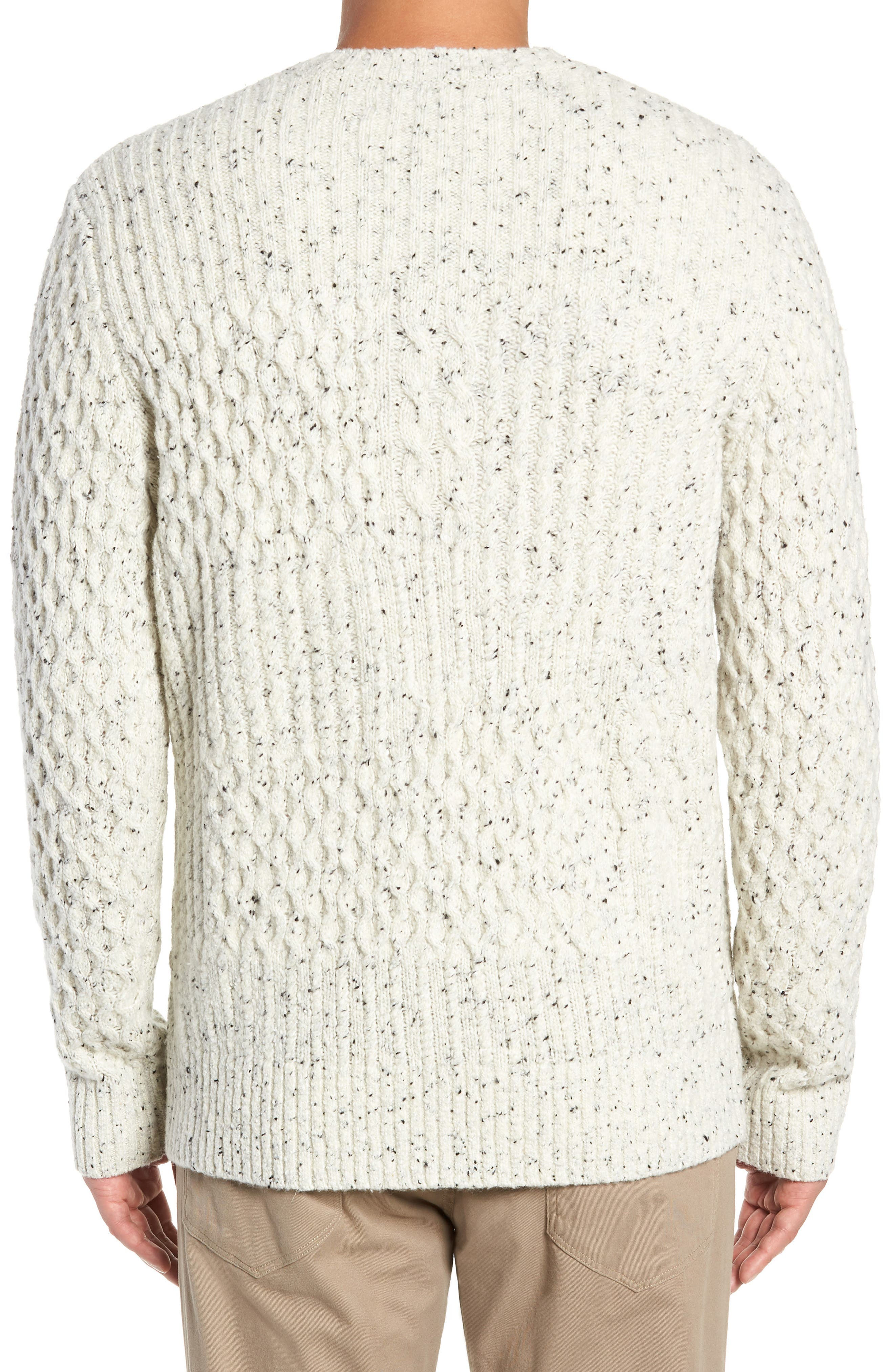 VINCE,                             Cable Knit Sweater,                             Alternate thumbnail 2, color,                             H WHITE