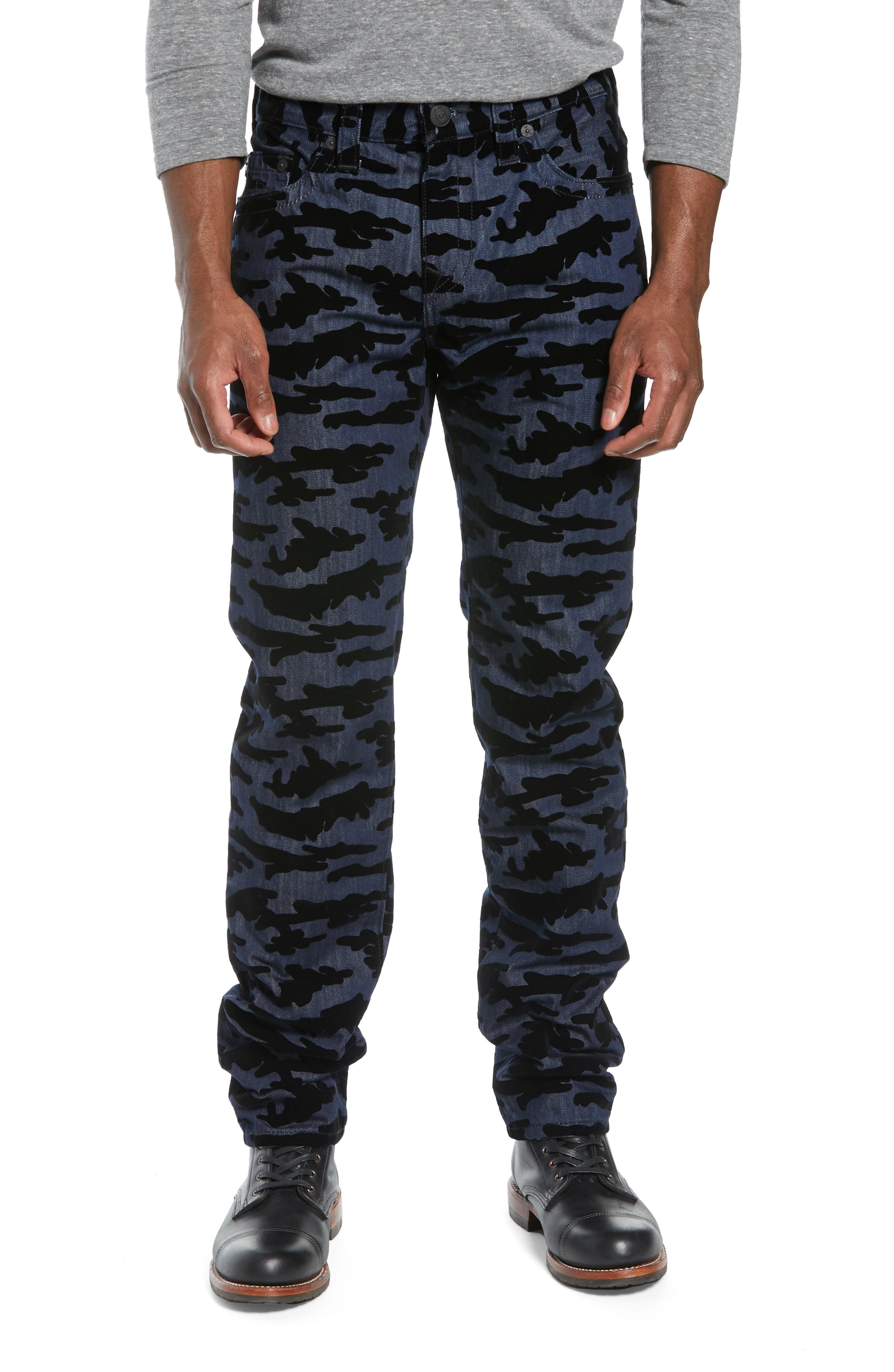 Rocco Camo Skinny Fit Jeans, Main, color, 2S BODY RINSE