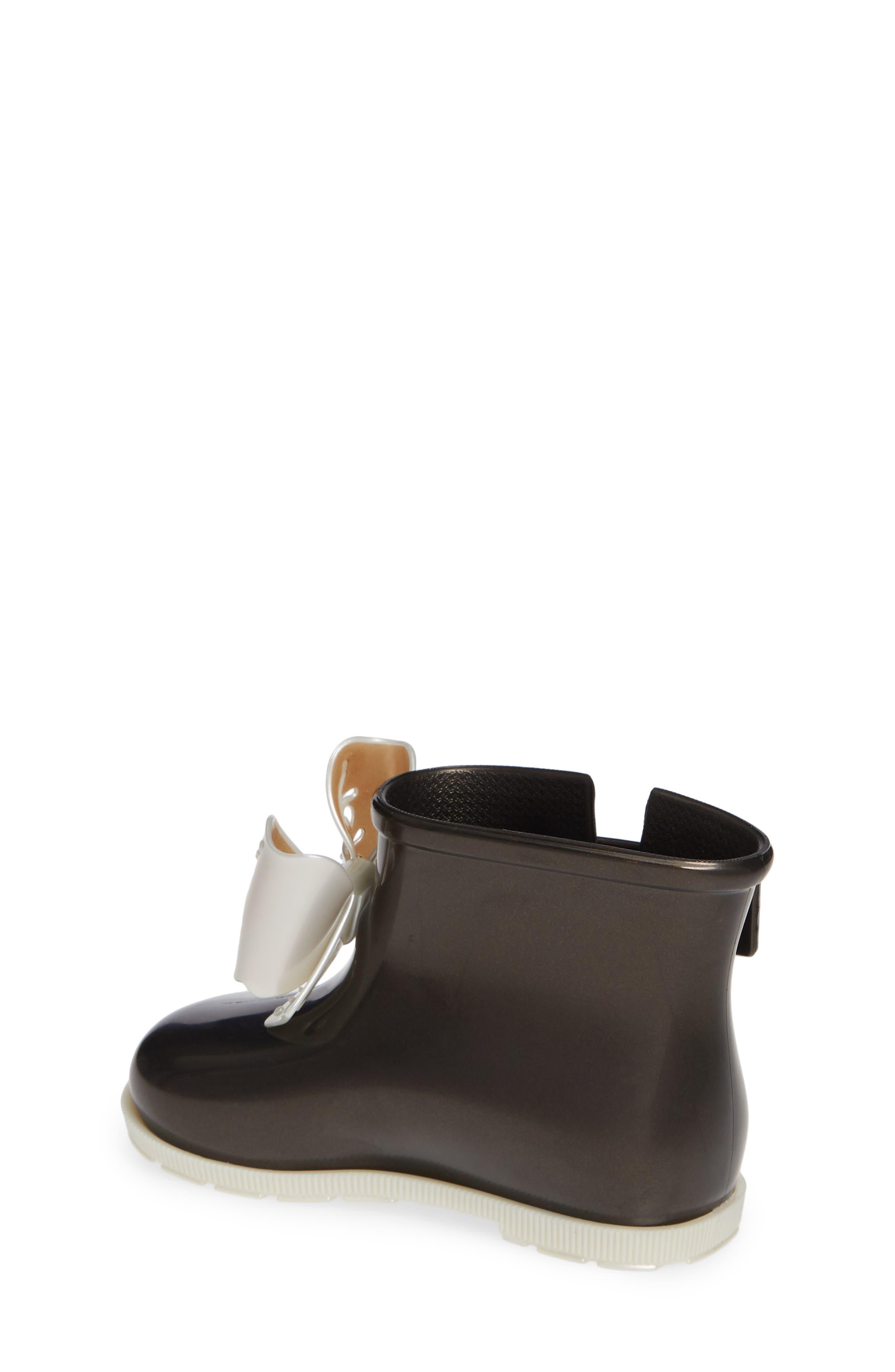 Mini Sugar Rain Boot,                             Alternate thumbnail 2, color,                             BLACK PEARLY WHITE