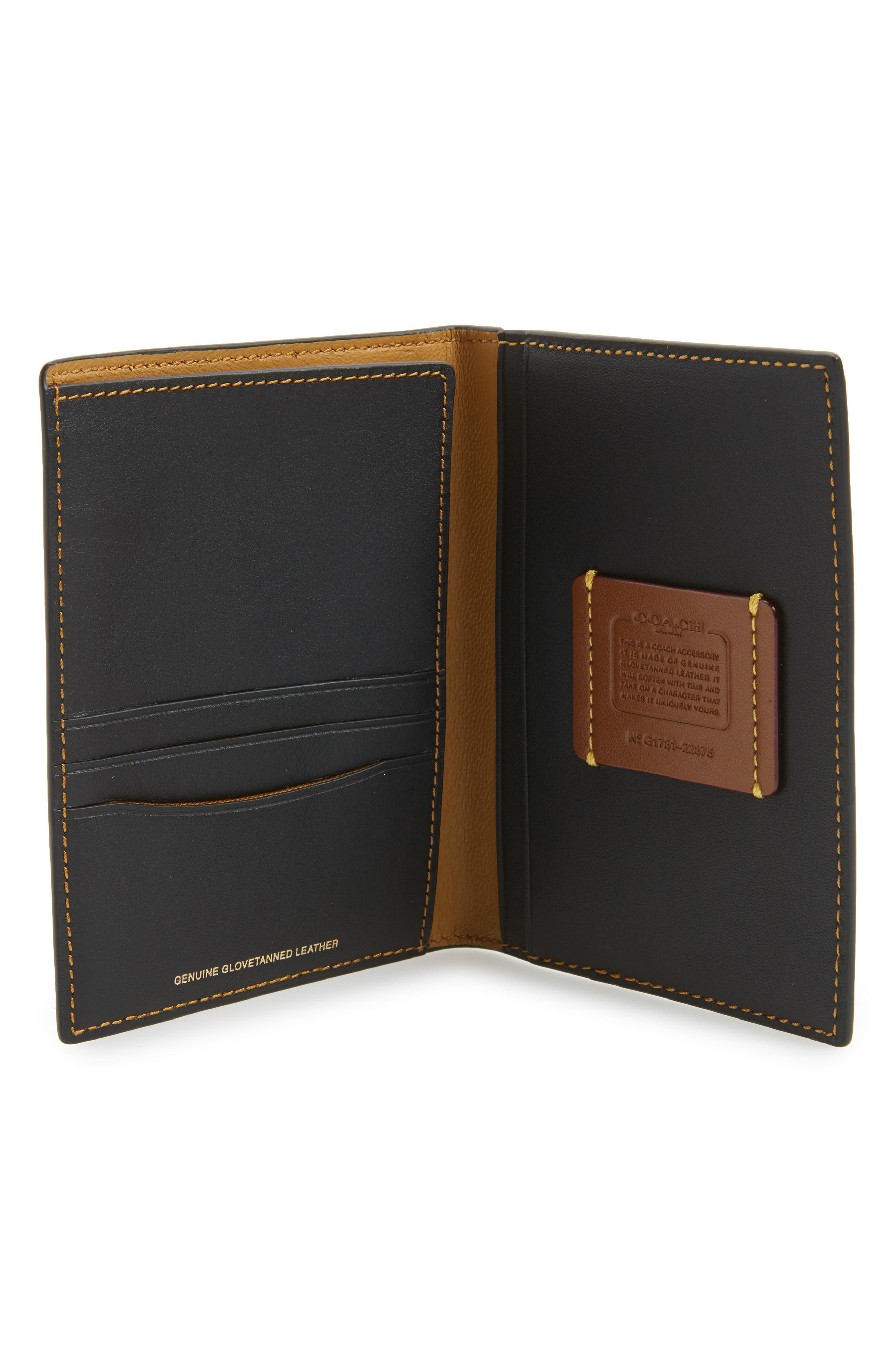 Leather Passport Case,                             Alternate thumbnail 2, color,                             001