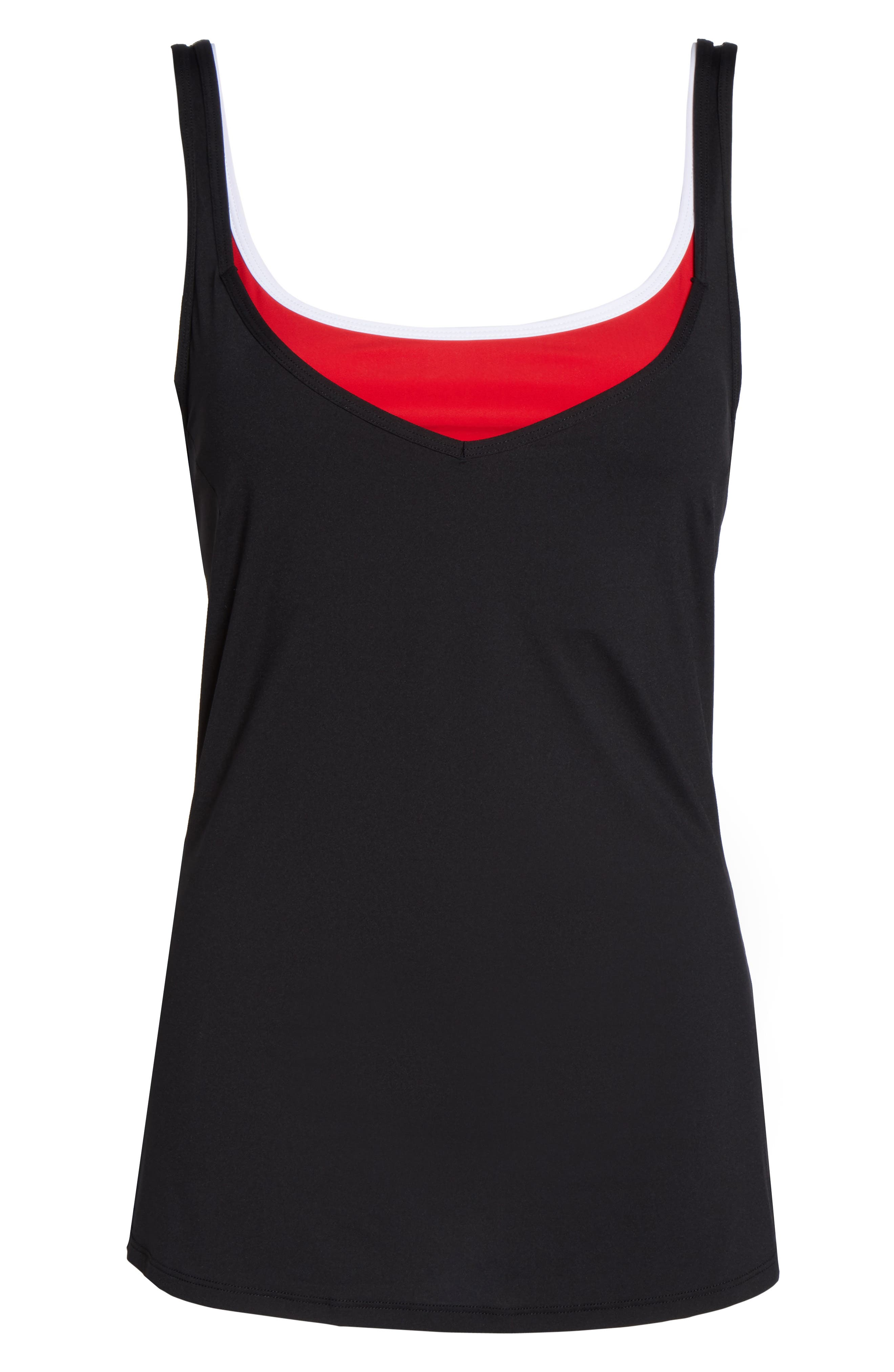 BoomBoom Athletica 2-in-1 Tank,                             Alternate thumbnail 7, color,                             001