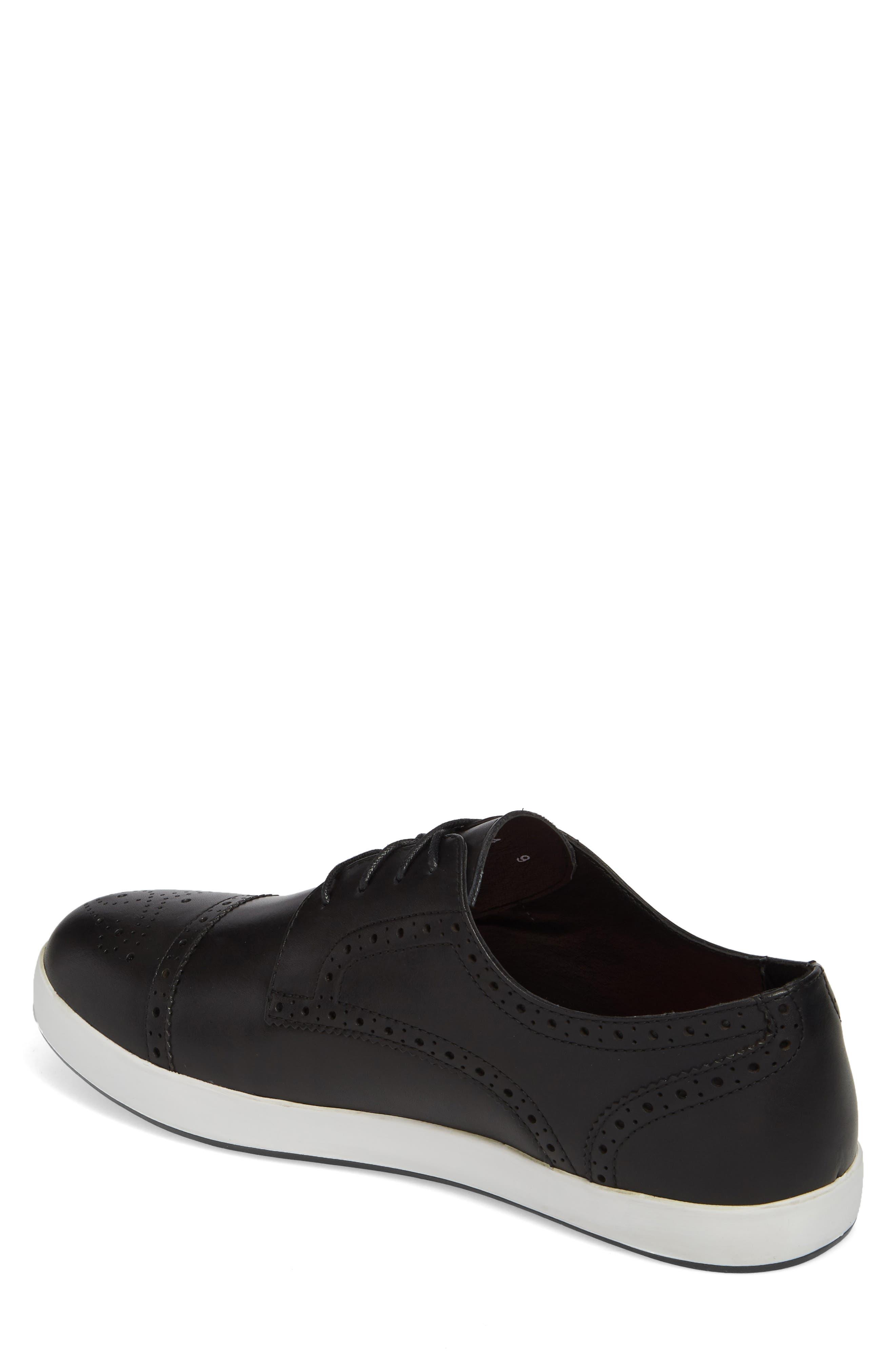 Dunnet Cap Toe Sneaker,                             Alternate thumbnail 2, color,                             001