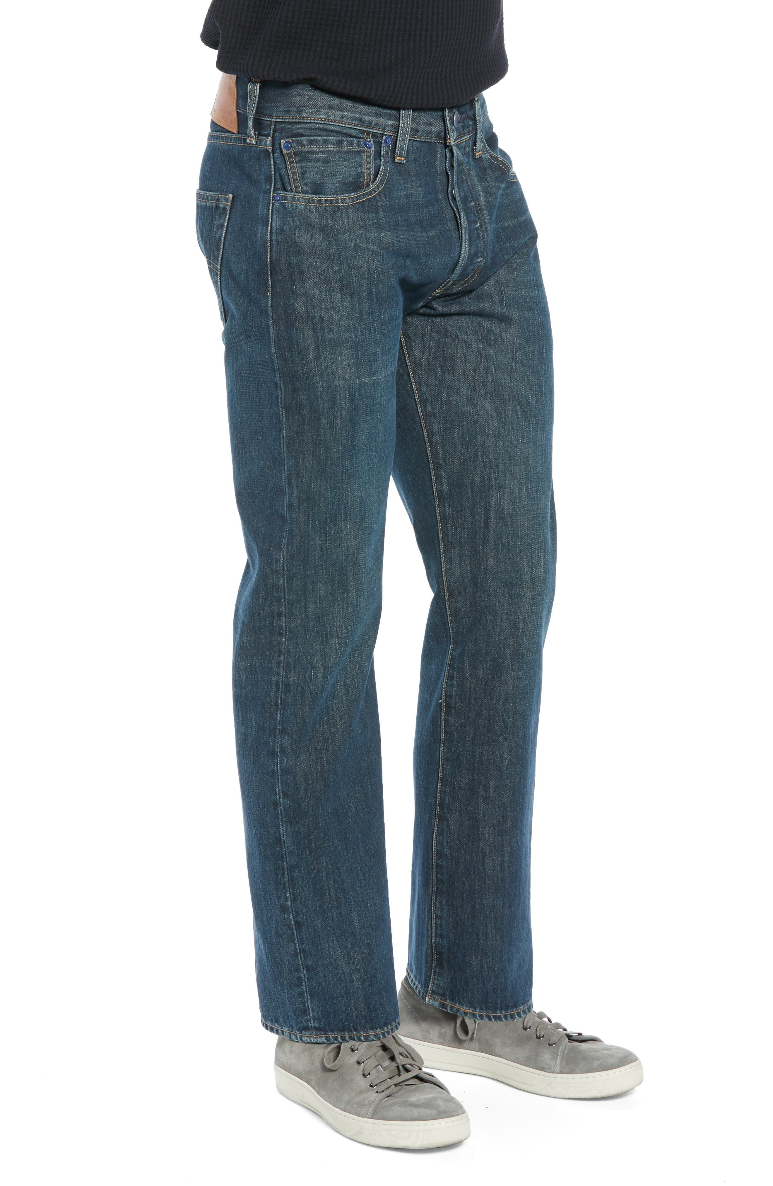 501<sup>®</sup> Straight Leg Jeans,                             Alternate thumbnail 3, color,                             SNOOT