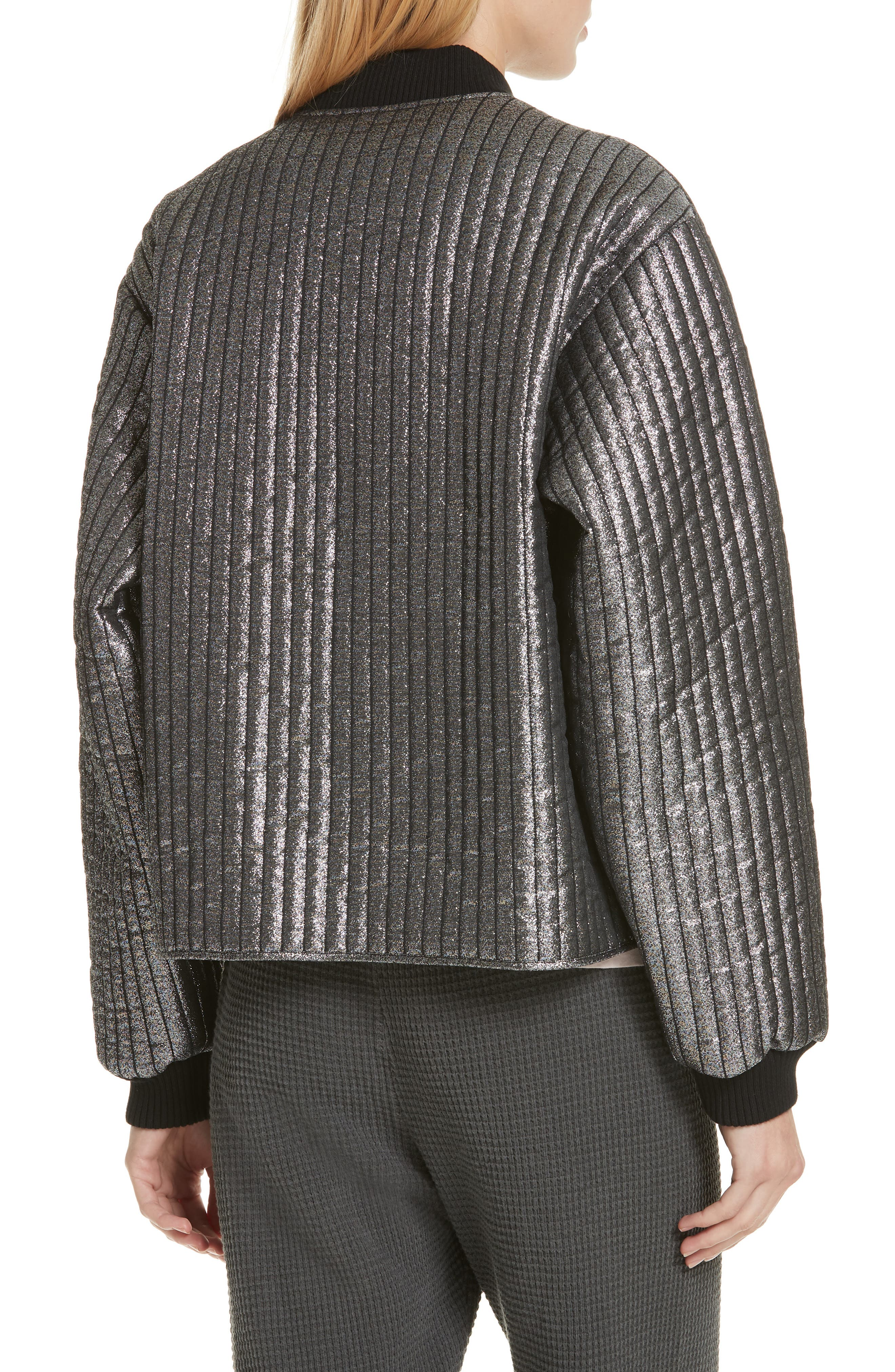 THE GREAT.,                             Quilted Metallic Bomber,                             Alternate thumbnail 2, color,                             040