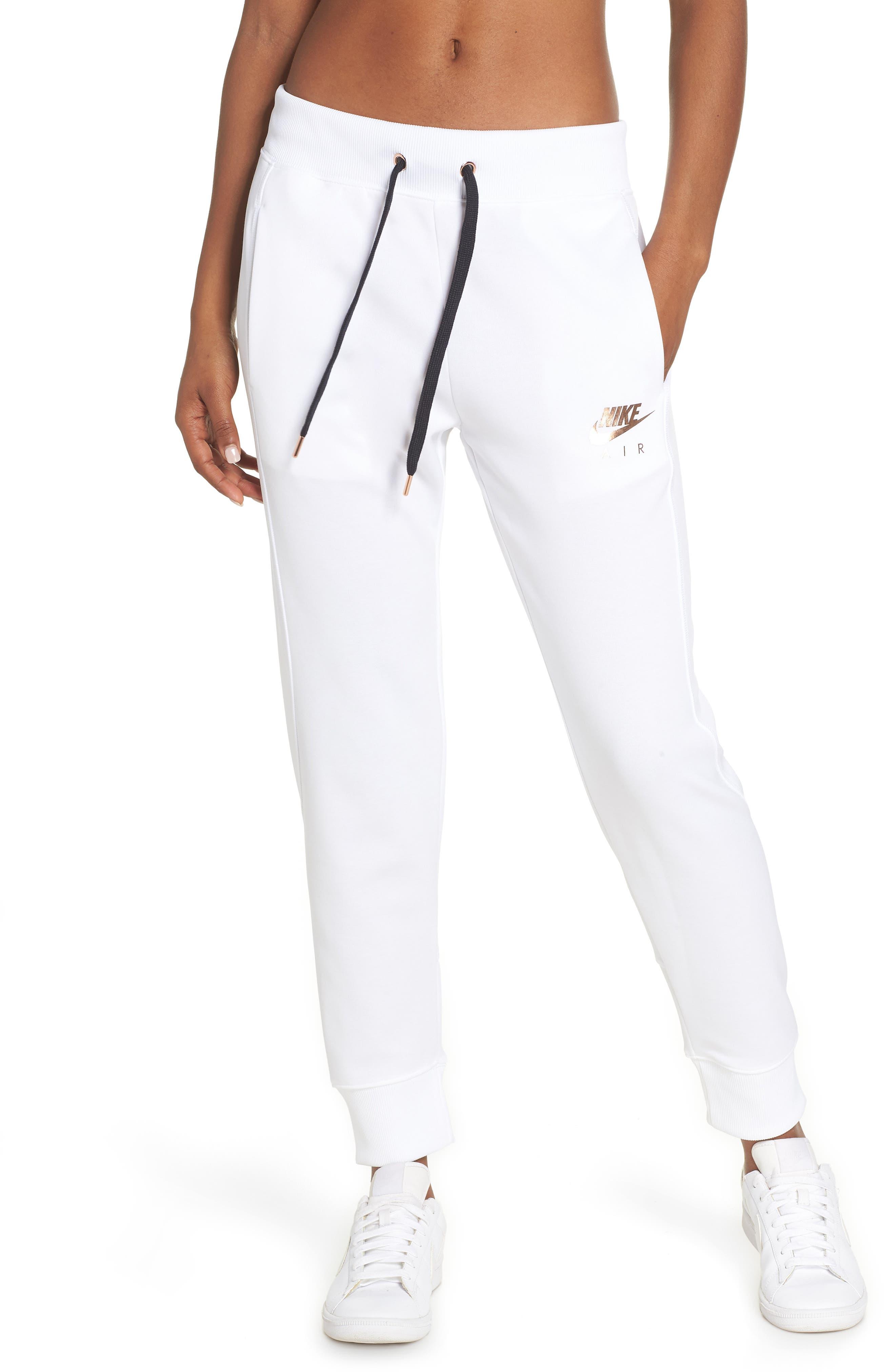 Sportswear Air Jogger Pants,                             Main thumbnail 1, color,                             WHITE/ ROSE GOLD/ BLACK