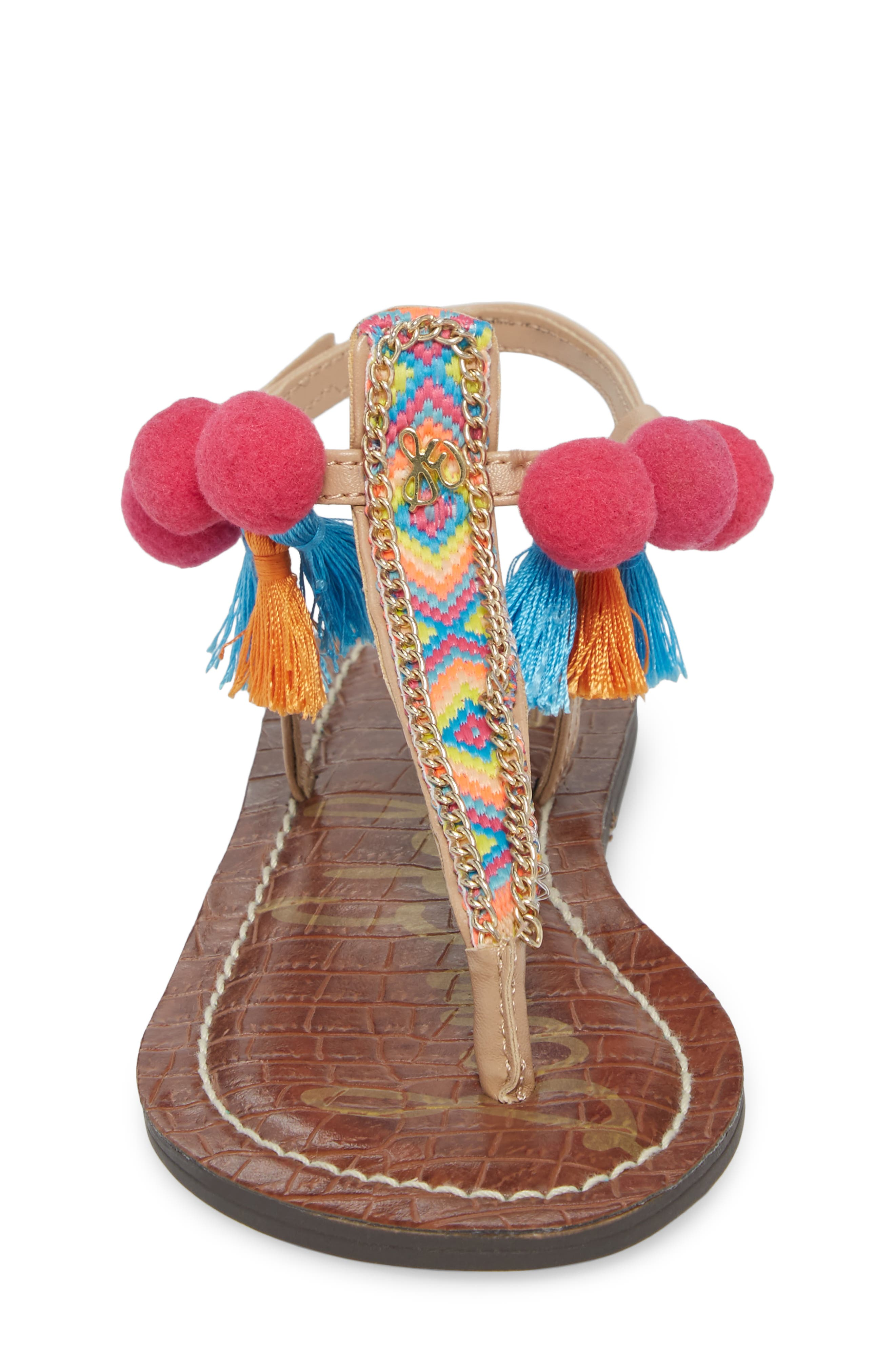 Gigi Embellished Thong Sandal,                             Alternate thumbnail 4, color,