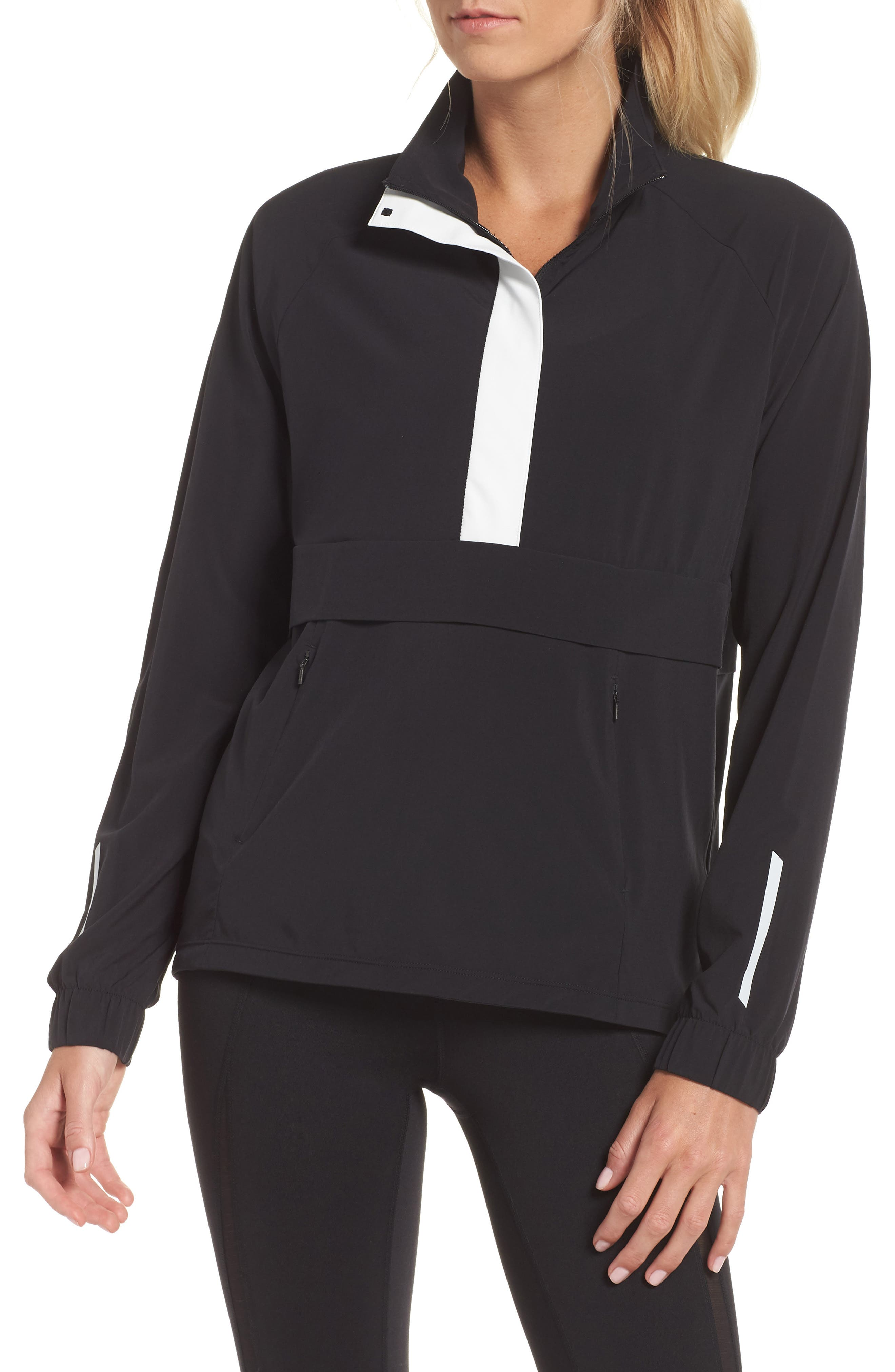 Freestyle Reflective Run Pullover,                             Main thumbnail 1, color,                             001