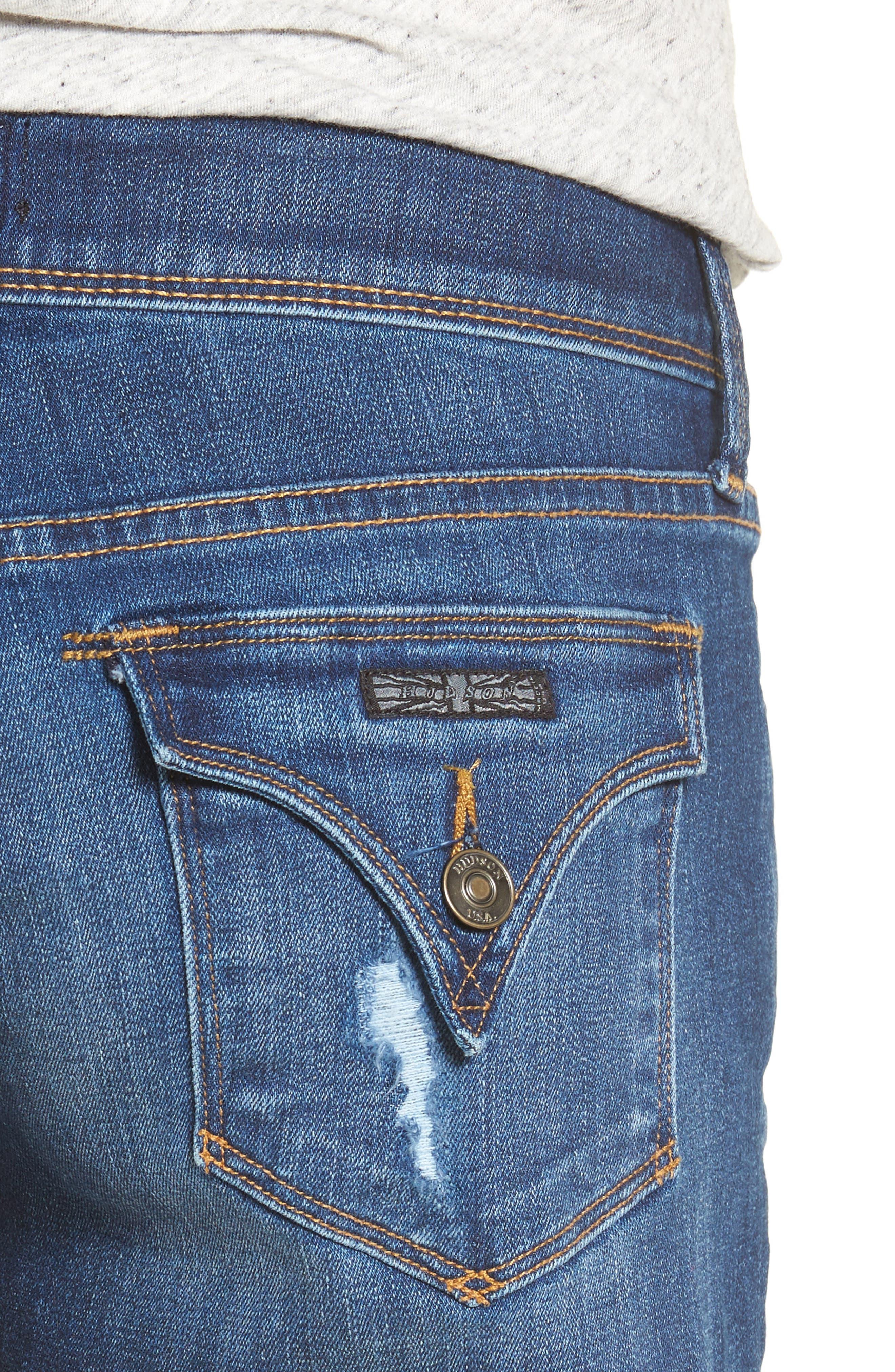 Croxley Cutoff Denim Shorts,                             Alternate thumbnail 4, color,                             401