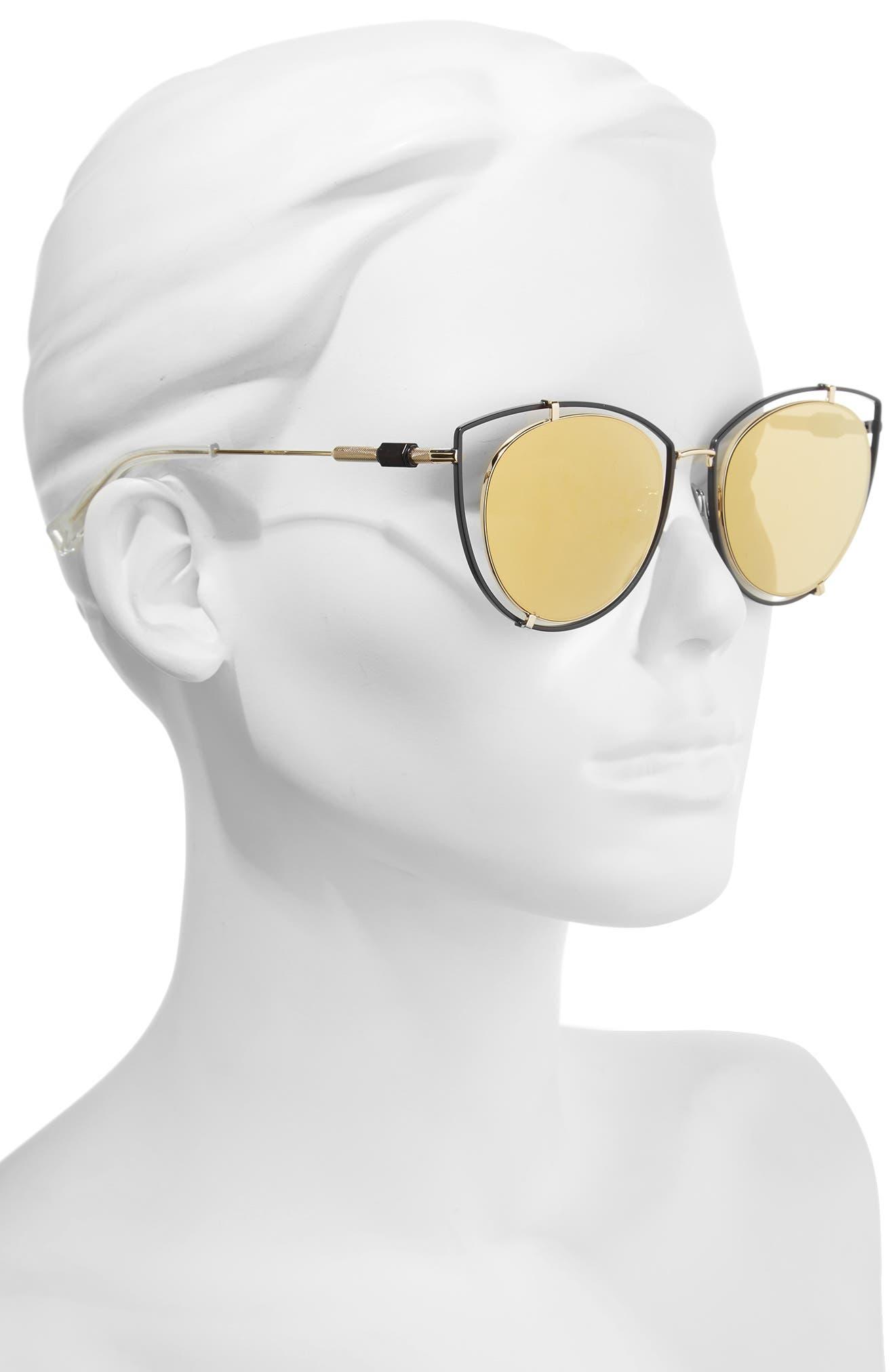 Vyt 53mm Cat Eye Sunglasses,                             Alternate thumbnail 2, color,                             001