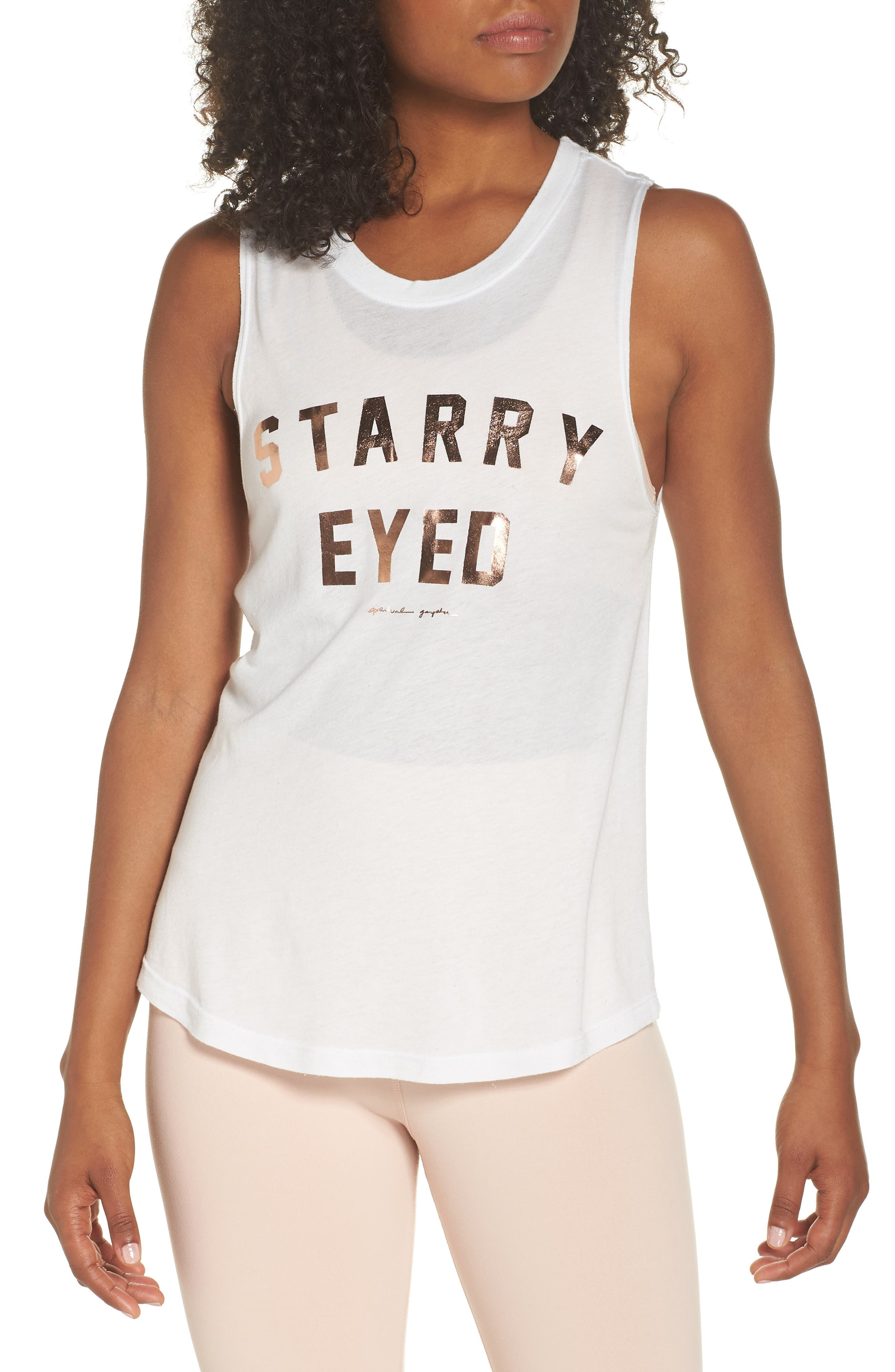 Spirtual Gangster Starry Eyed Muscle Tee,                             Main thumbnail 1, color,                             254