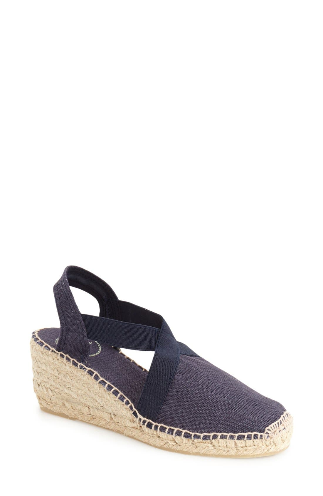 'Ter' Slingback Espadrille Sandal,                         Main,                         color, NAVY LINEN