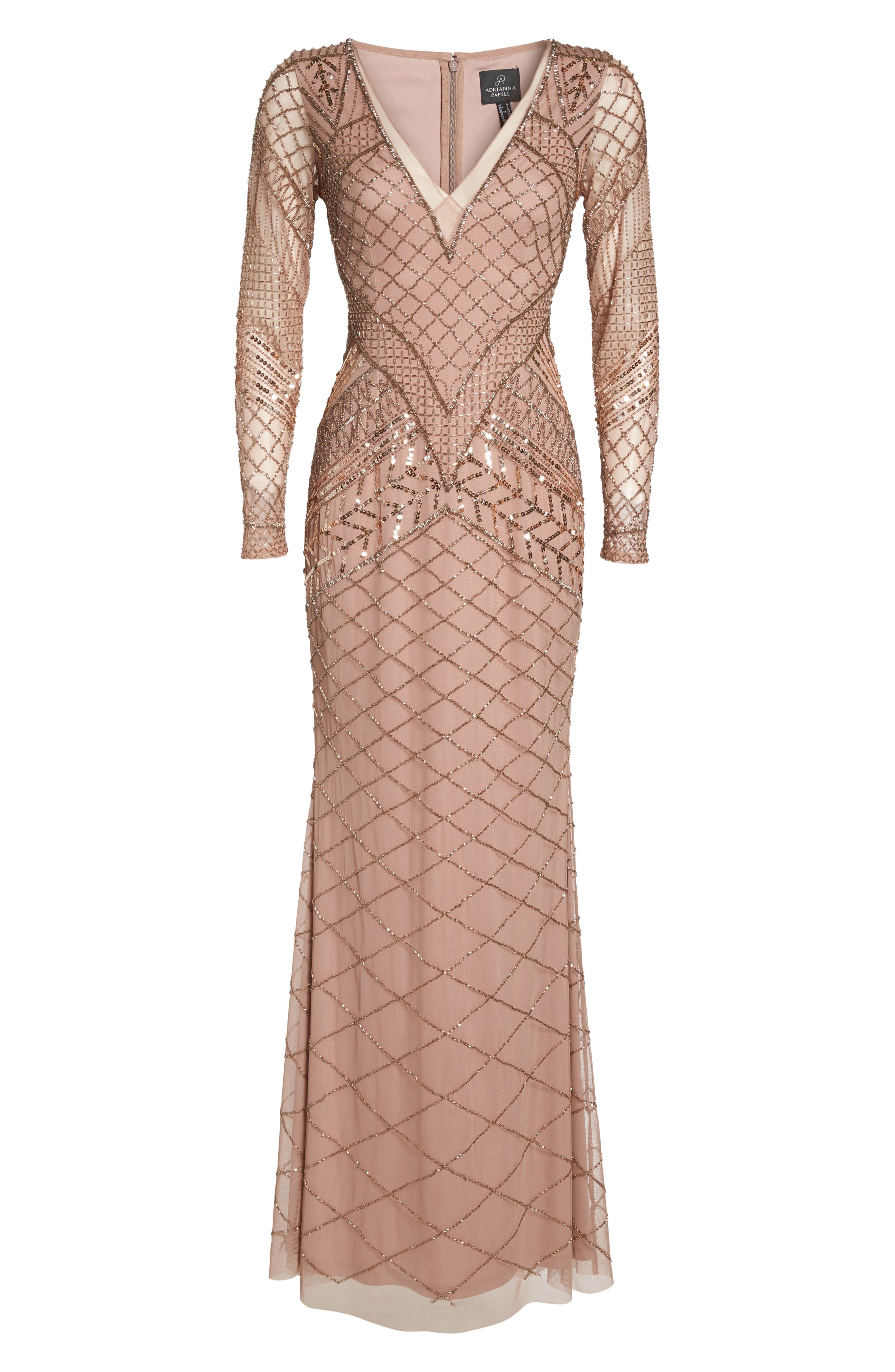 Embellished Mermaid Gown,                             Alternate thumbnail 6, color,                             658