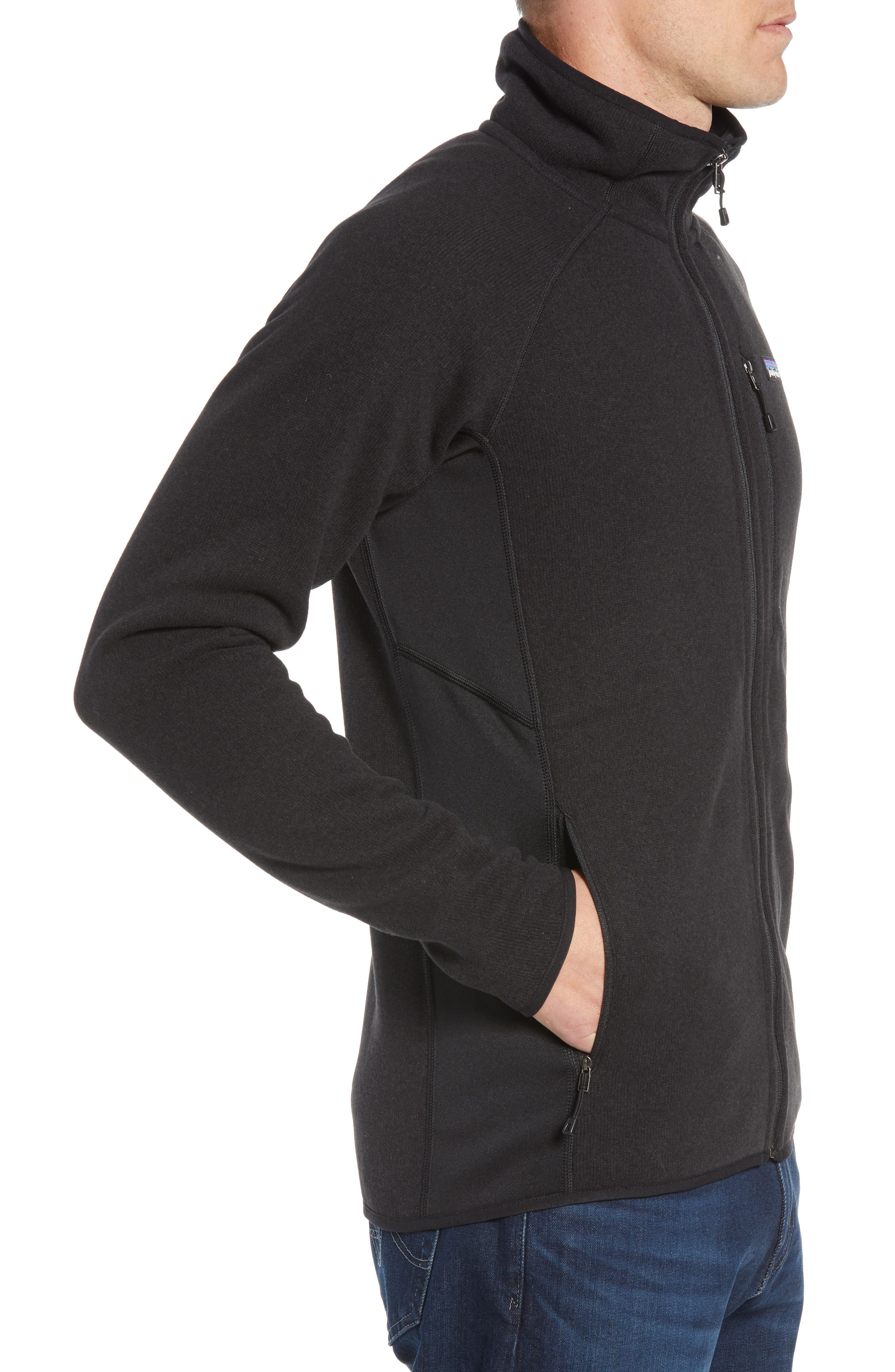 Better Sweater<sup>®</sup> Performance Slim Fit Zip Jacket,                             Alternate thumbnail 4, color,                             BLK