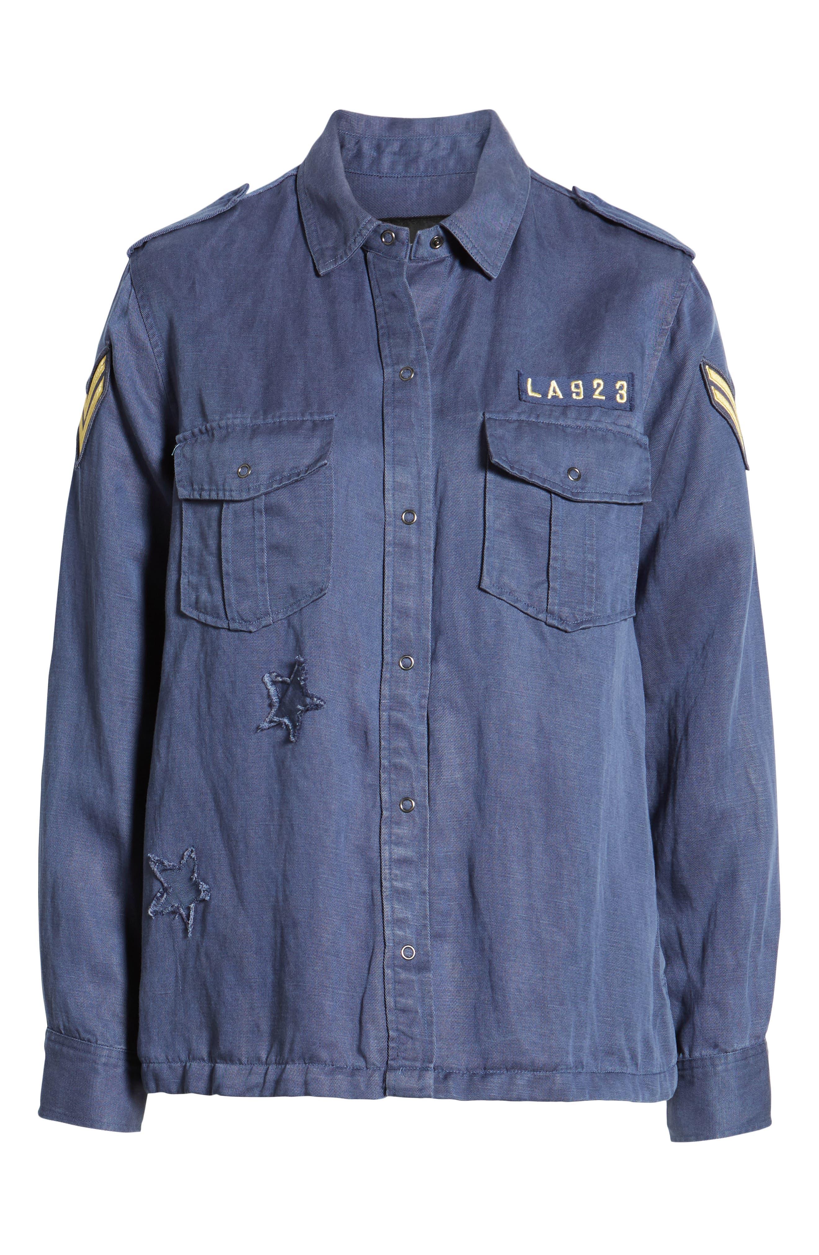 Kato Military Shirt,                             Alternate thumbnail 6, color,                             TOKYO BLUE