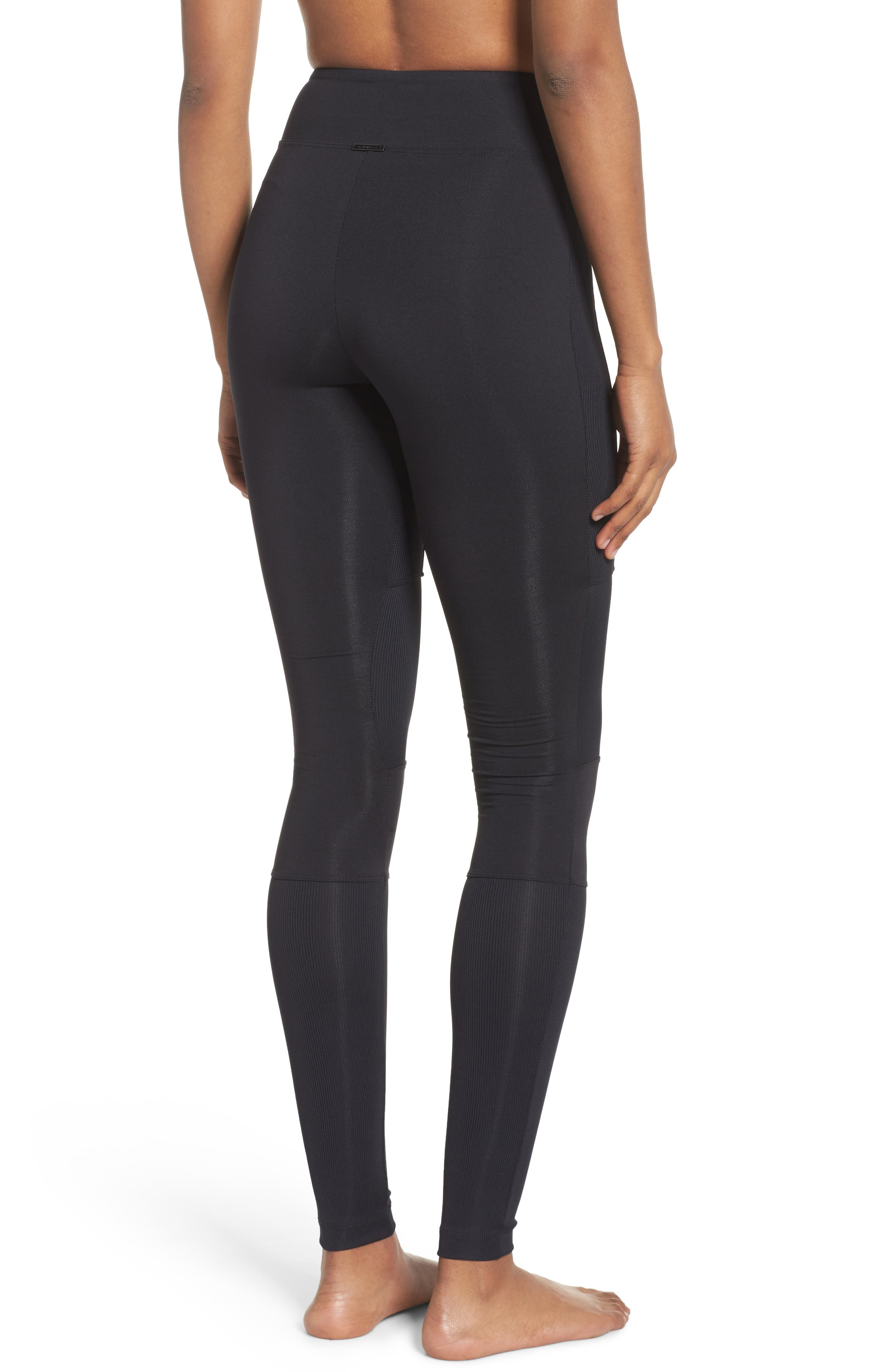 Rappel High Waist Leggings,                             Alternate thumbnail 2, color,                             001
