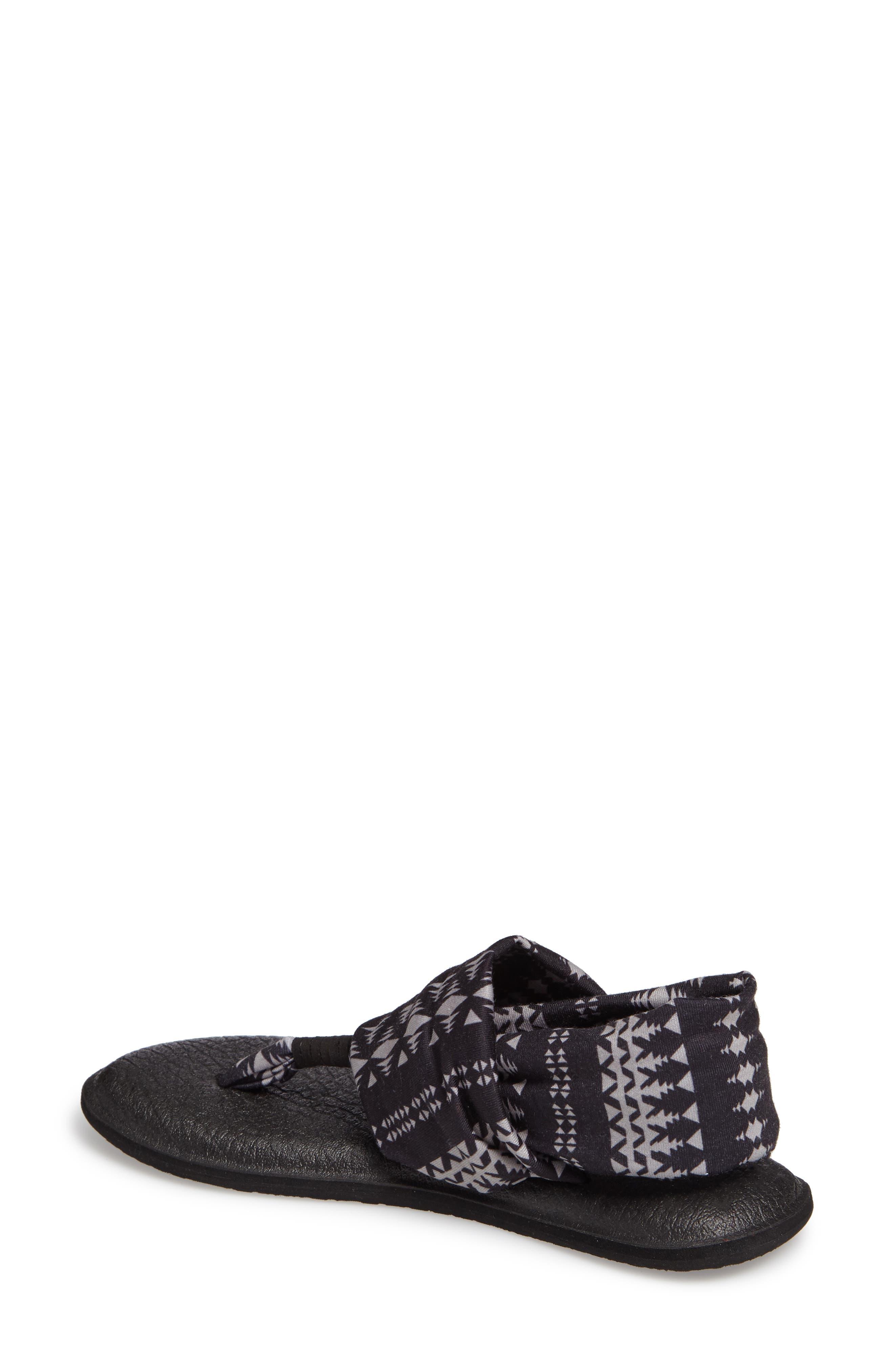 'Yoga Sling 2' Sandal,                             Alternate thumbnail 2, color,                             BLACK TRIBAL