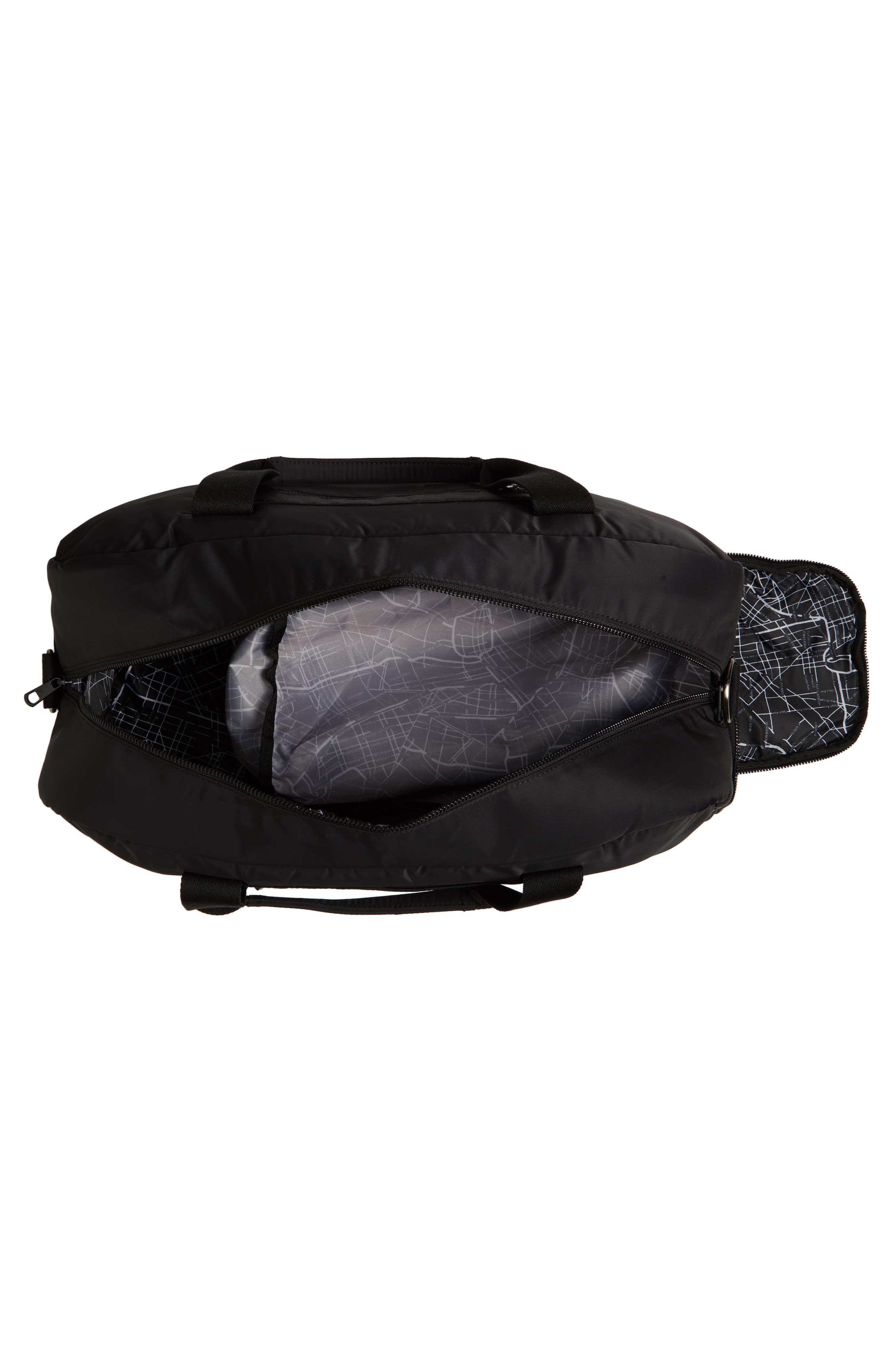 The Heights - Franklin Nylon Duffel Bag,                             Alternate thumbnail 4, color,                             BLACK