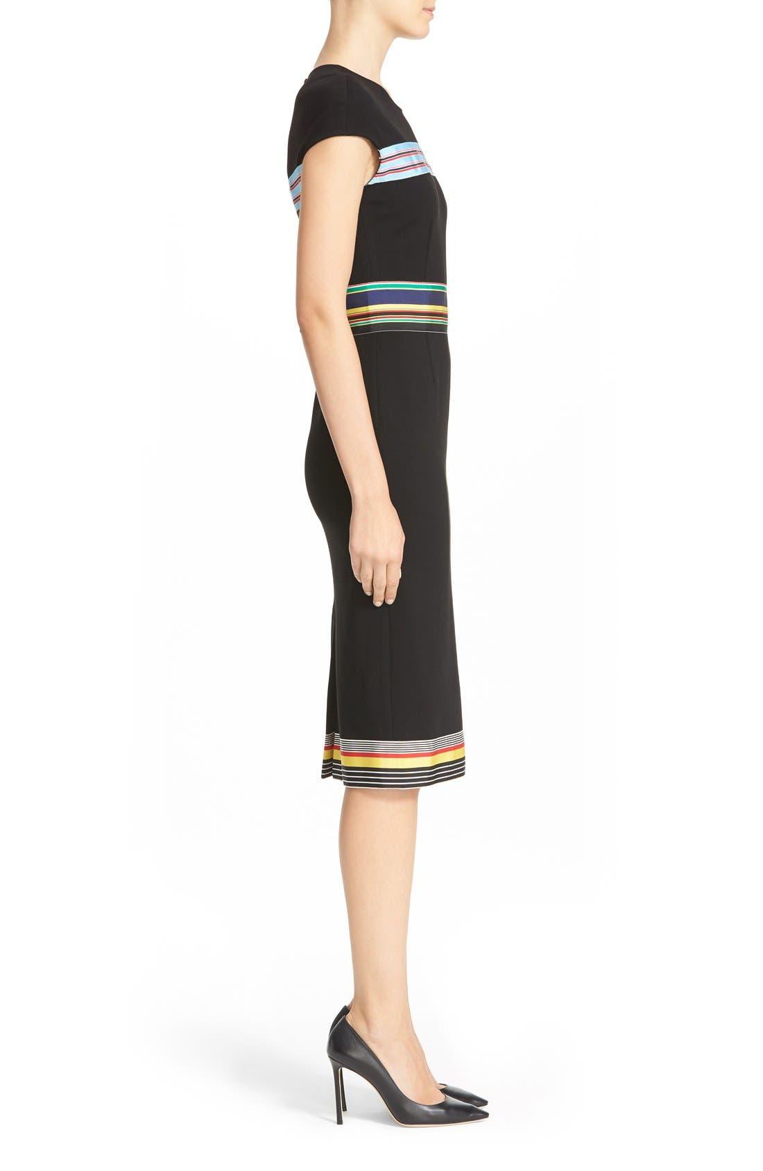 Hadlie Sheath Dress,                             Alternate thumbnail 3, color,                             001