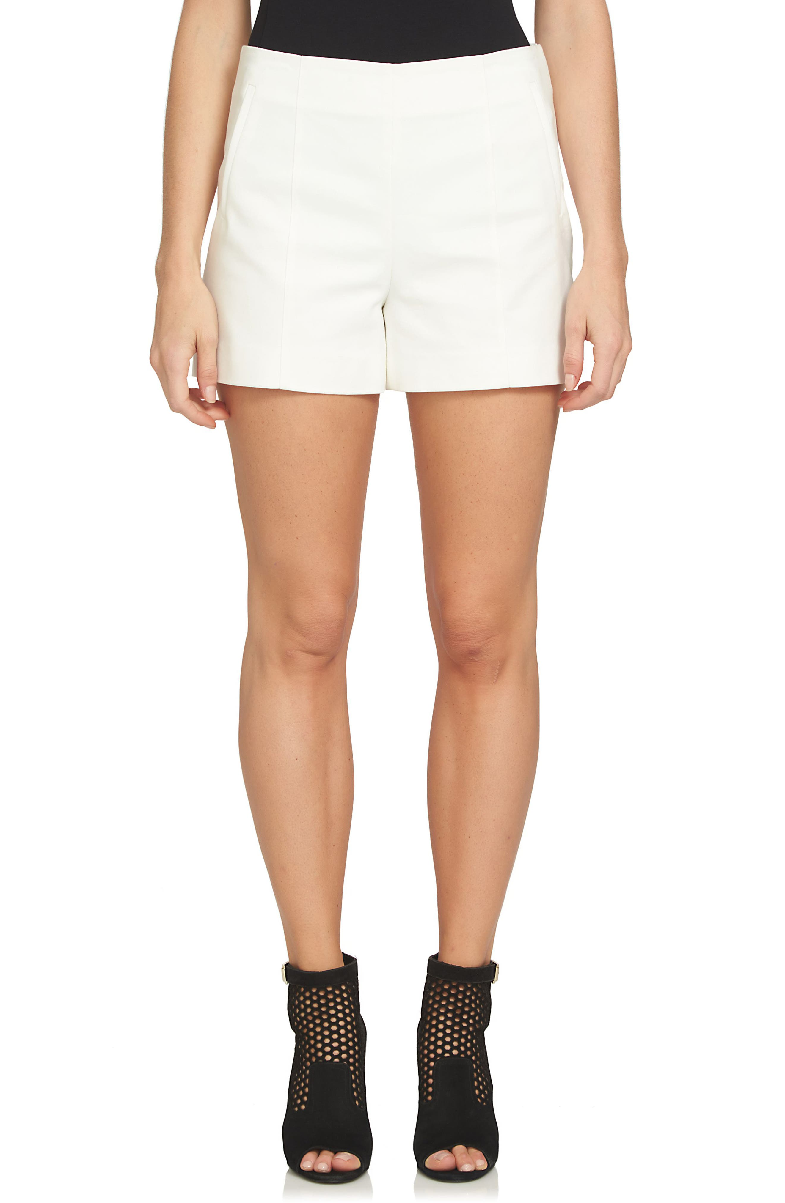 Flat Front Shorts,                         Main,                         color, NEW IVORY