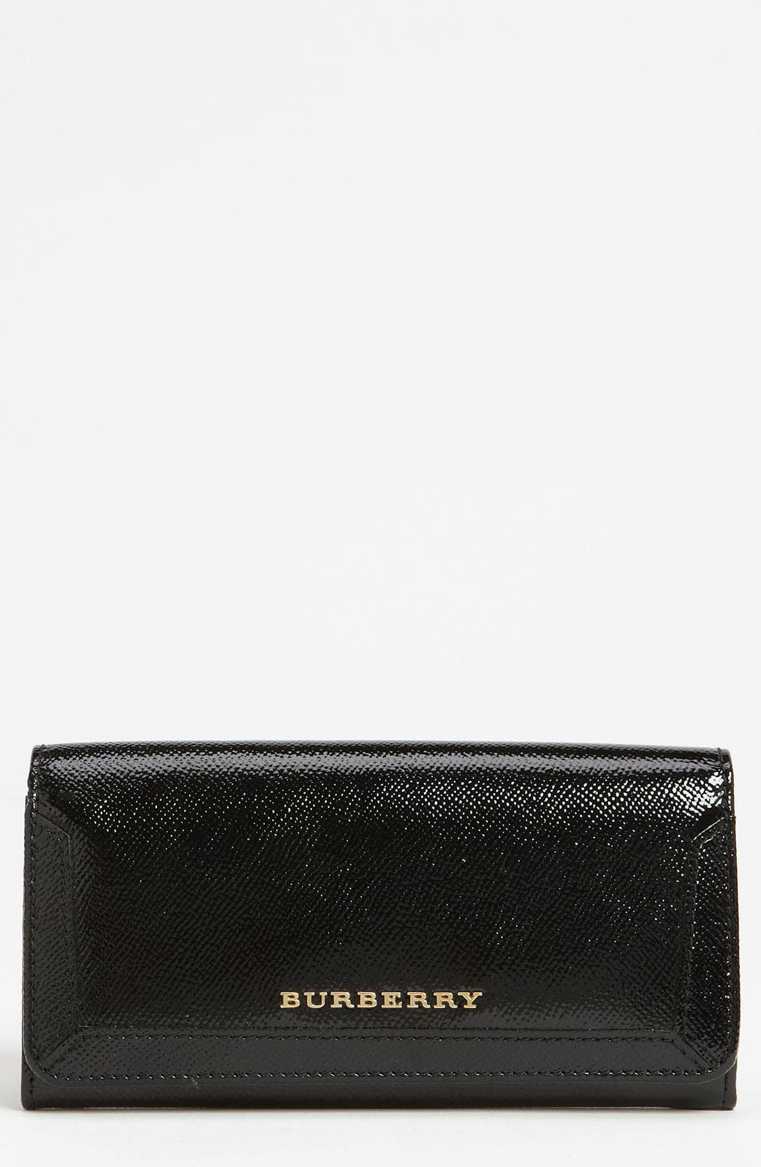 Patent Leather Wallet,                             Main thumbnail 1, color,                             001