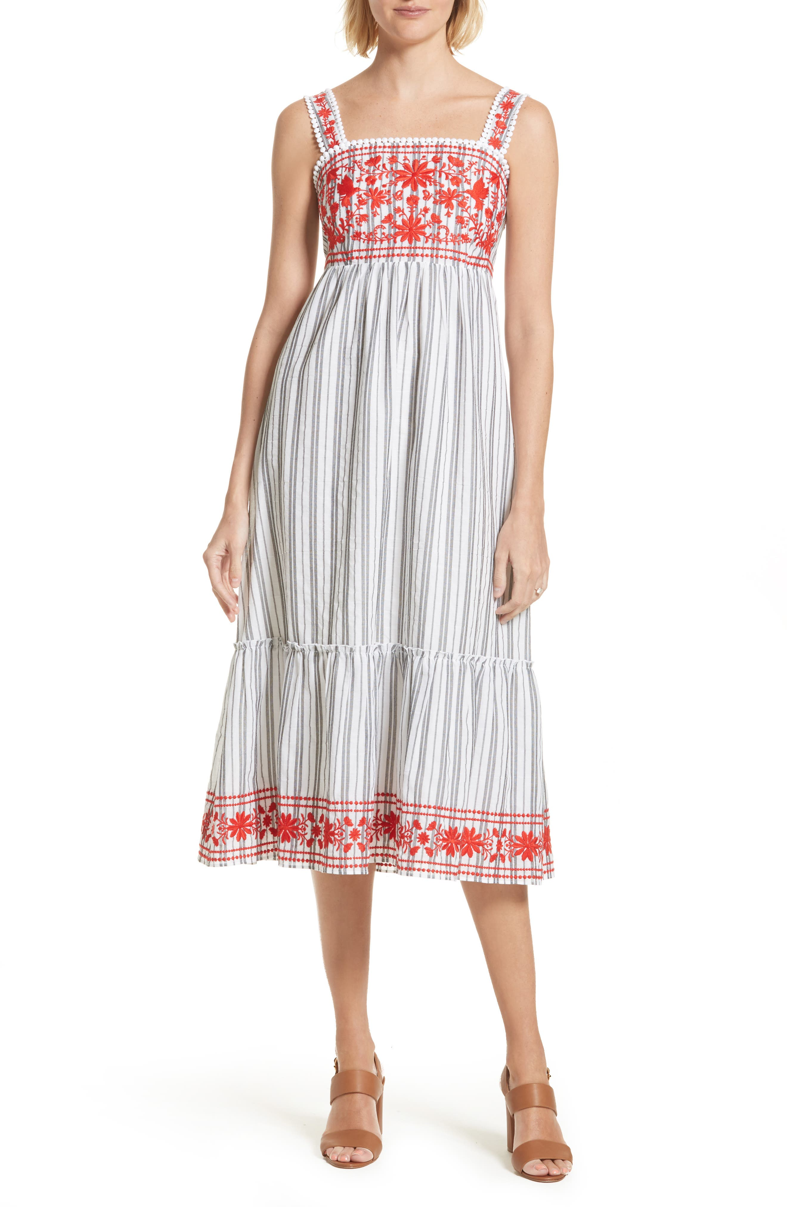 embroidered sundress,                         Main,                         color, 146