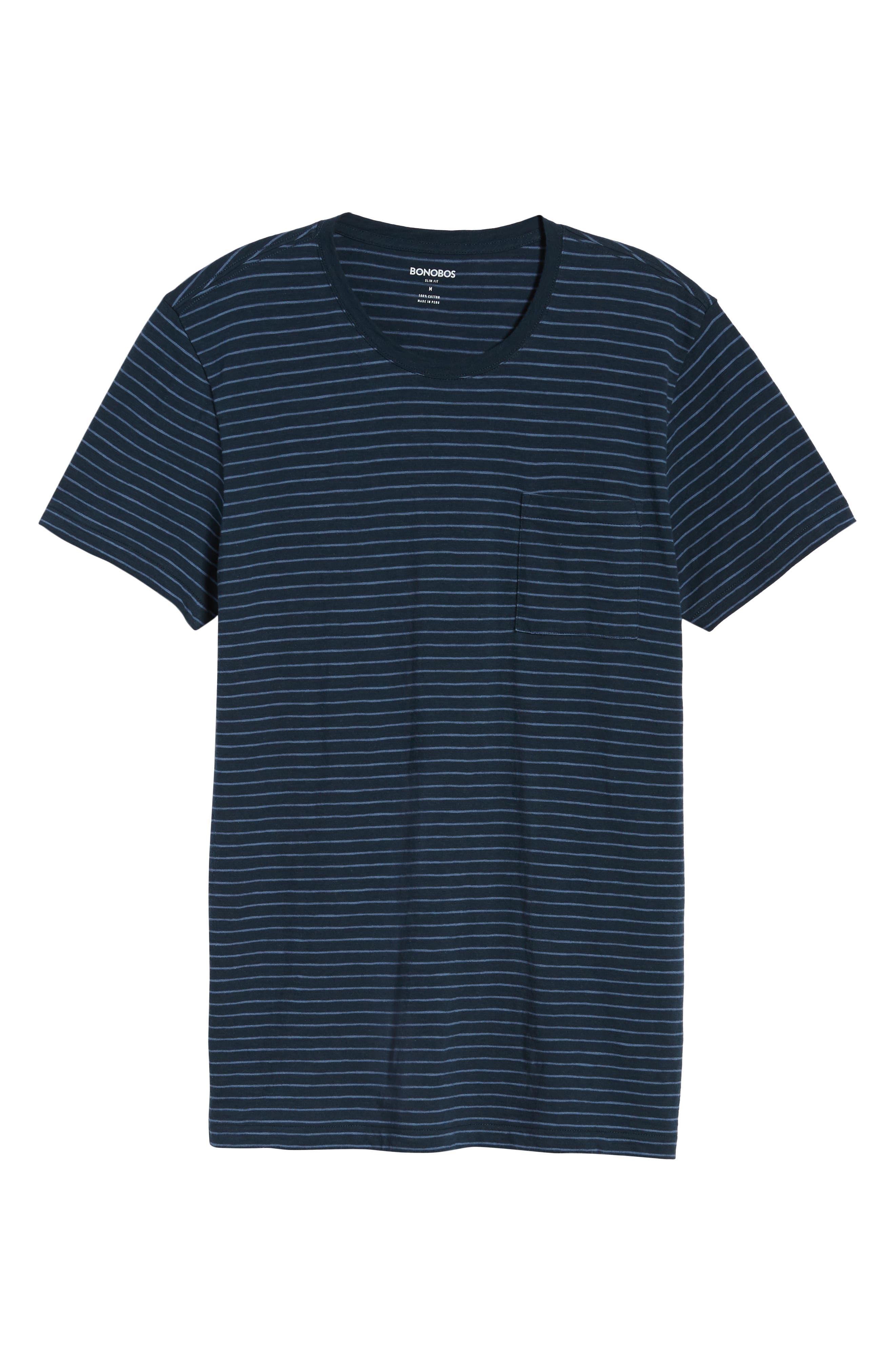 Stripe Slim Fit Pocket T-Shirt,                             Alternate thumbnail 6, color,                             400
