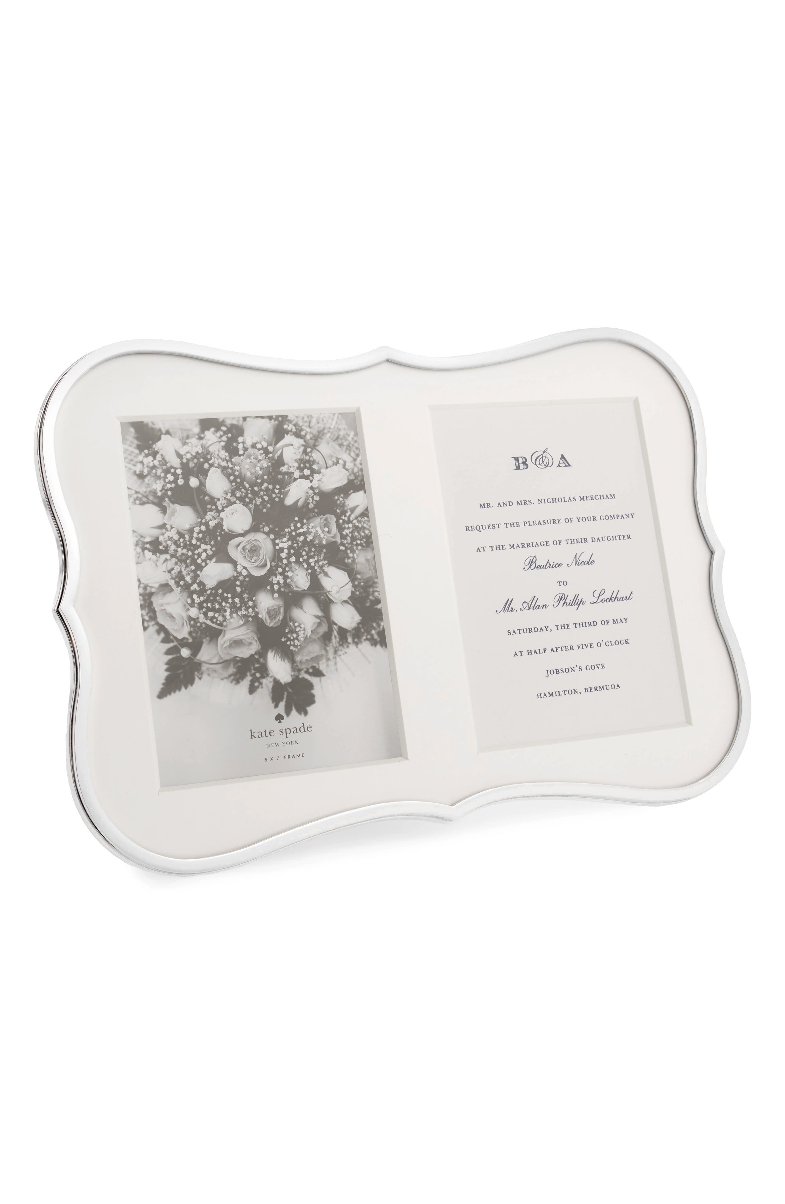 'crown point' double invitation frame,                             Main thumbnail 1, color,                             960