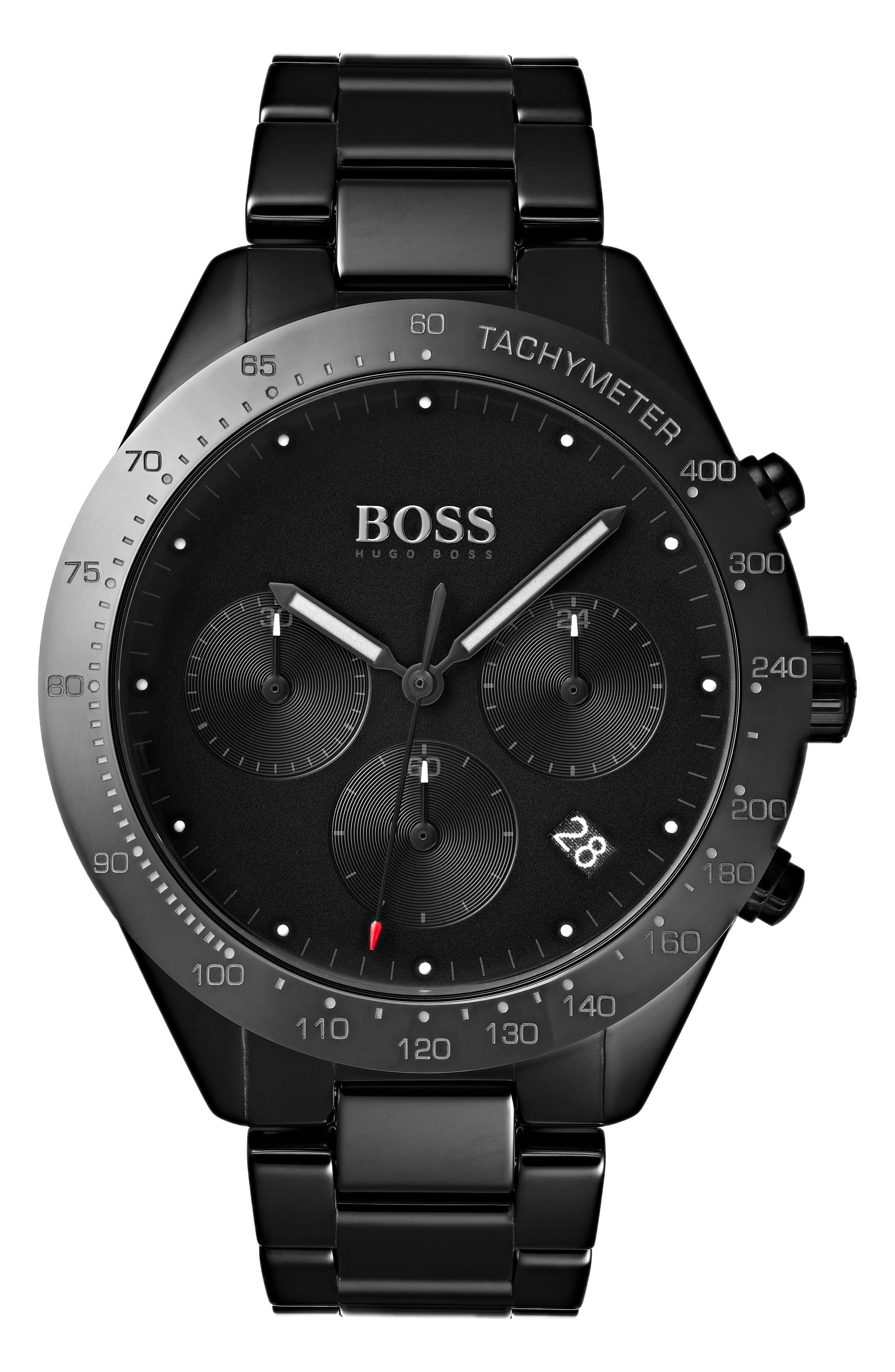 Talent Chronograph Bracelet Watch, 42mm,                         Main,                         color, BLACK