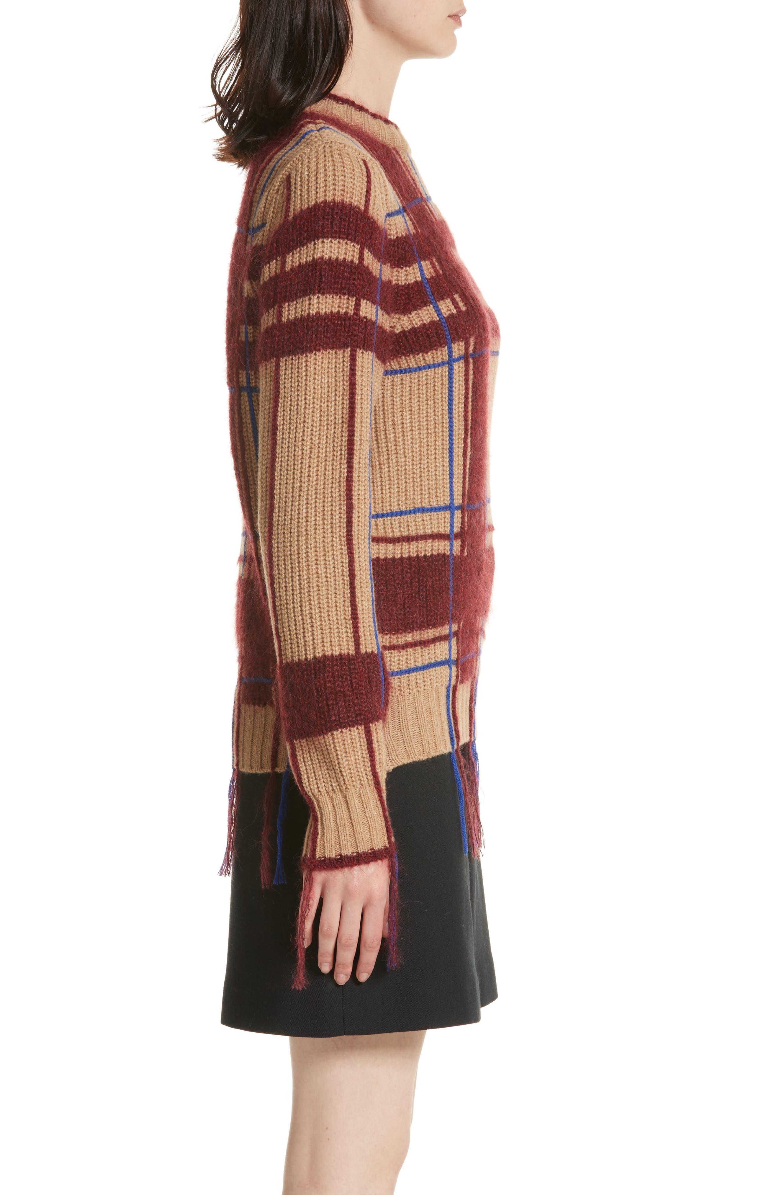 Eden Plaid Sweater,                             Alternate thumbnail 3, color,                             250