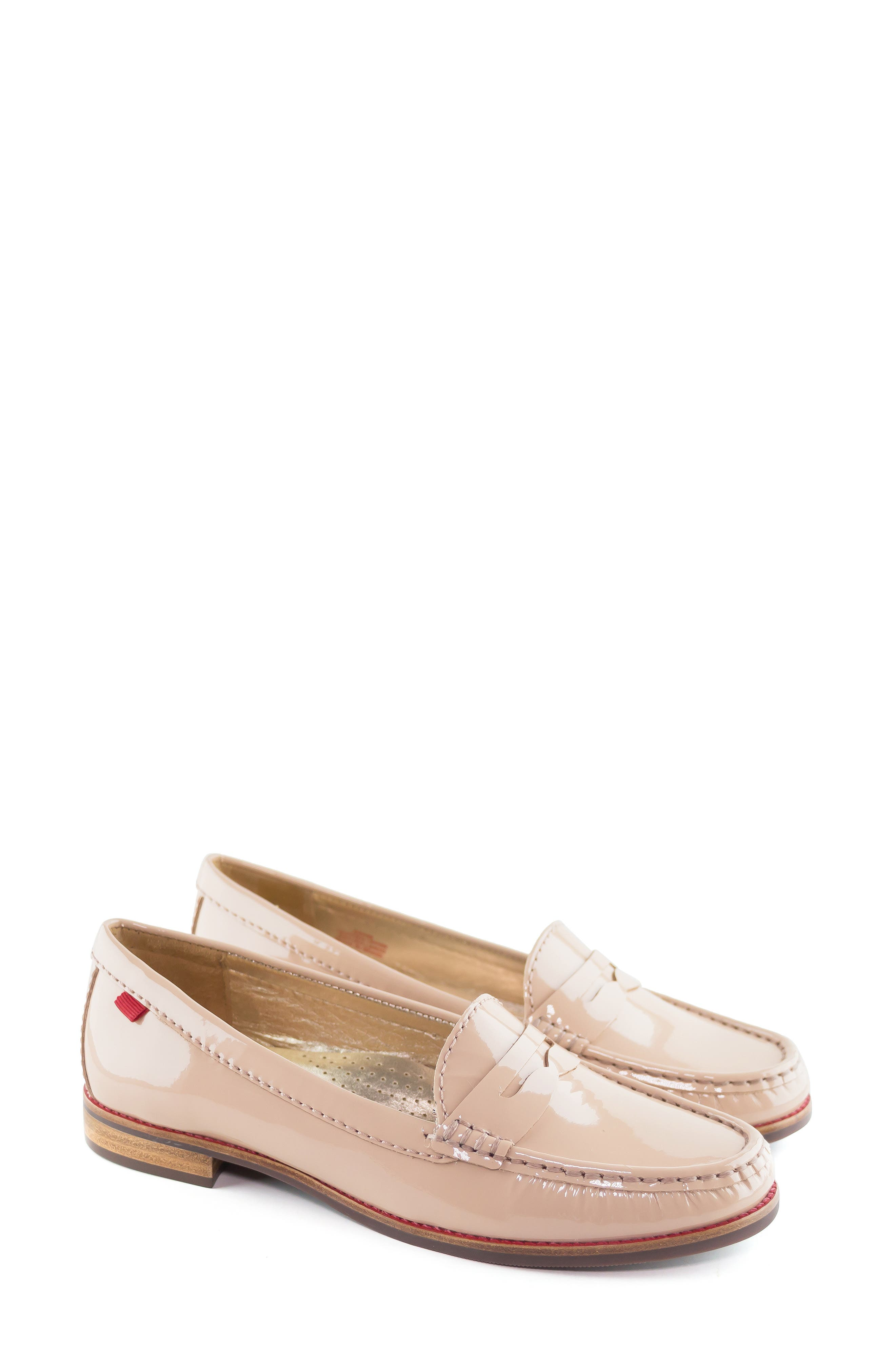 East Village Loafer,                             Alternate thumbnail 6, color,                             NUDE PATENT
