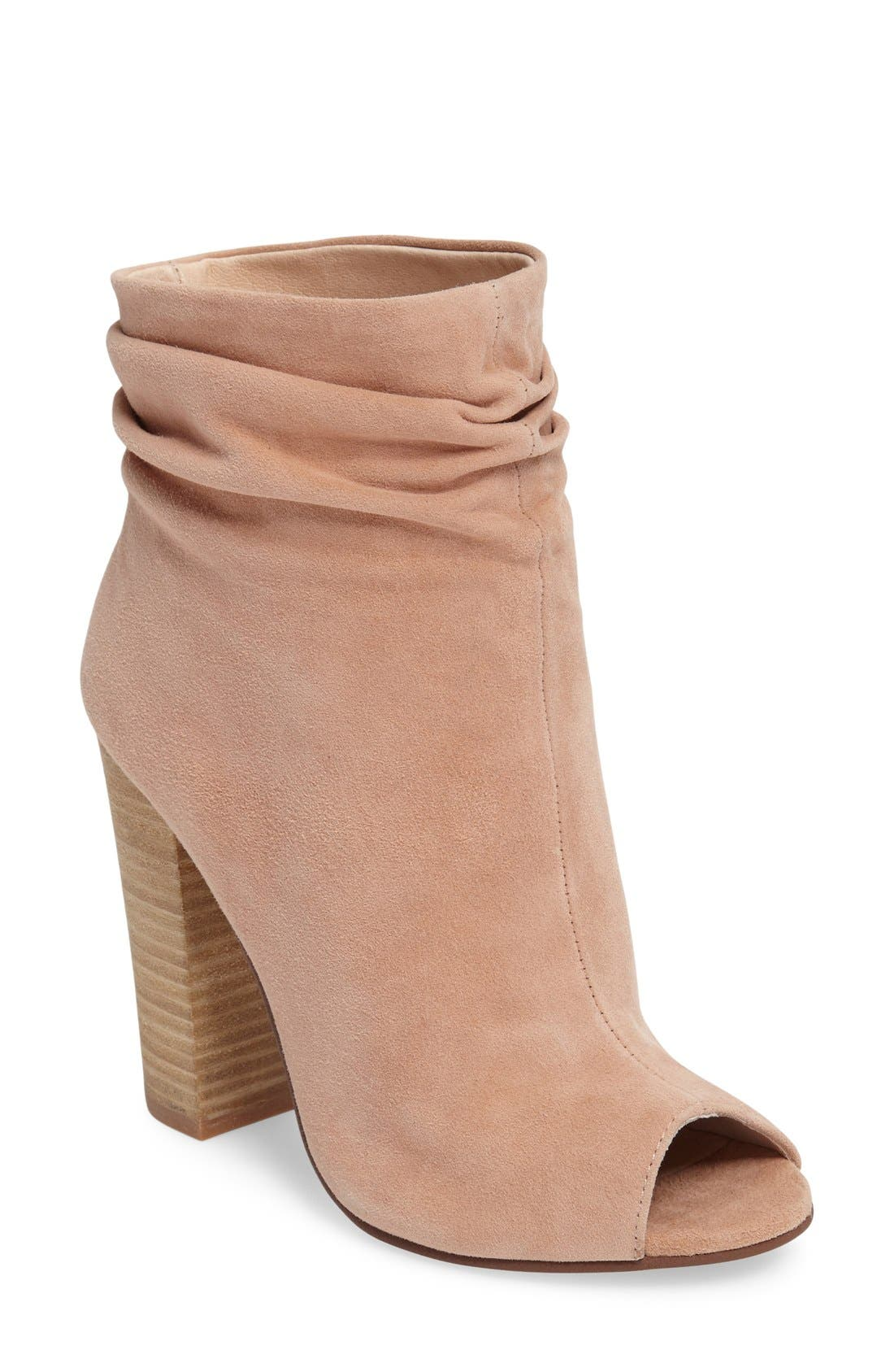 'Laurel' Peep Toe Bootie,                             Main thumbnail 7, color,