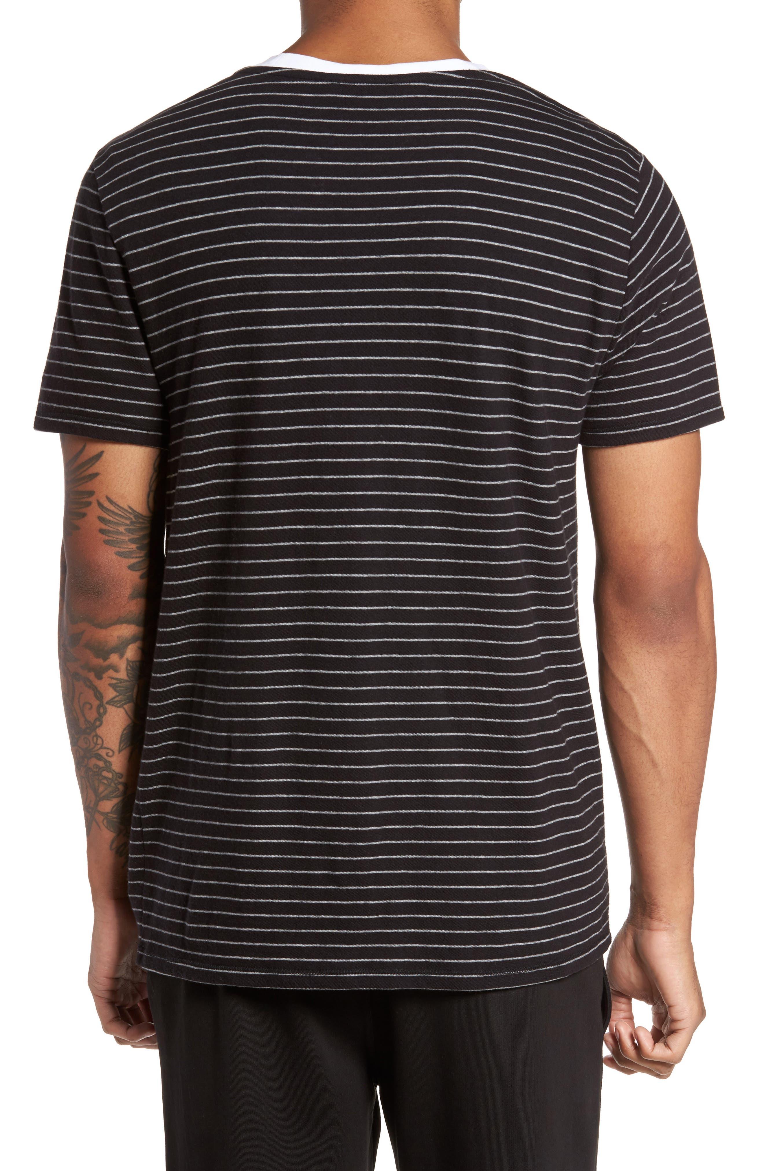 Raw Edge Stripe T-Shirt,                             Alternate thumbnail 2, color,                             002